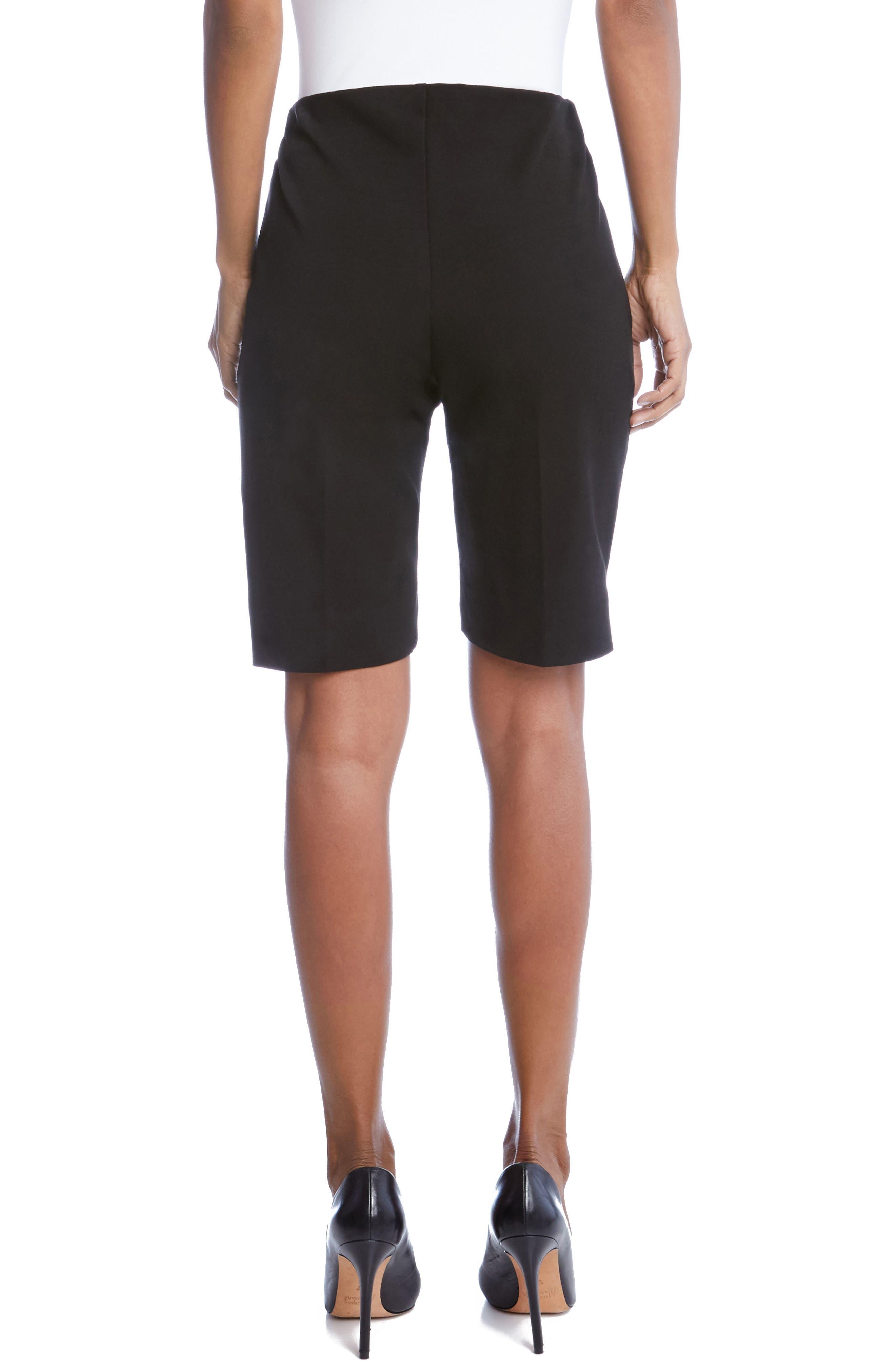Side Slit Bermuda Shorts,                             Alternate thumbnail 2, color,                             001