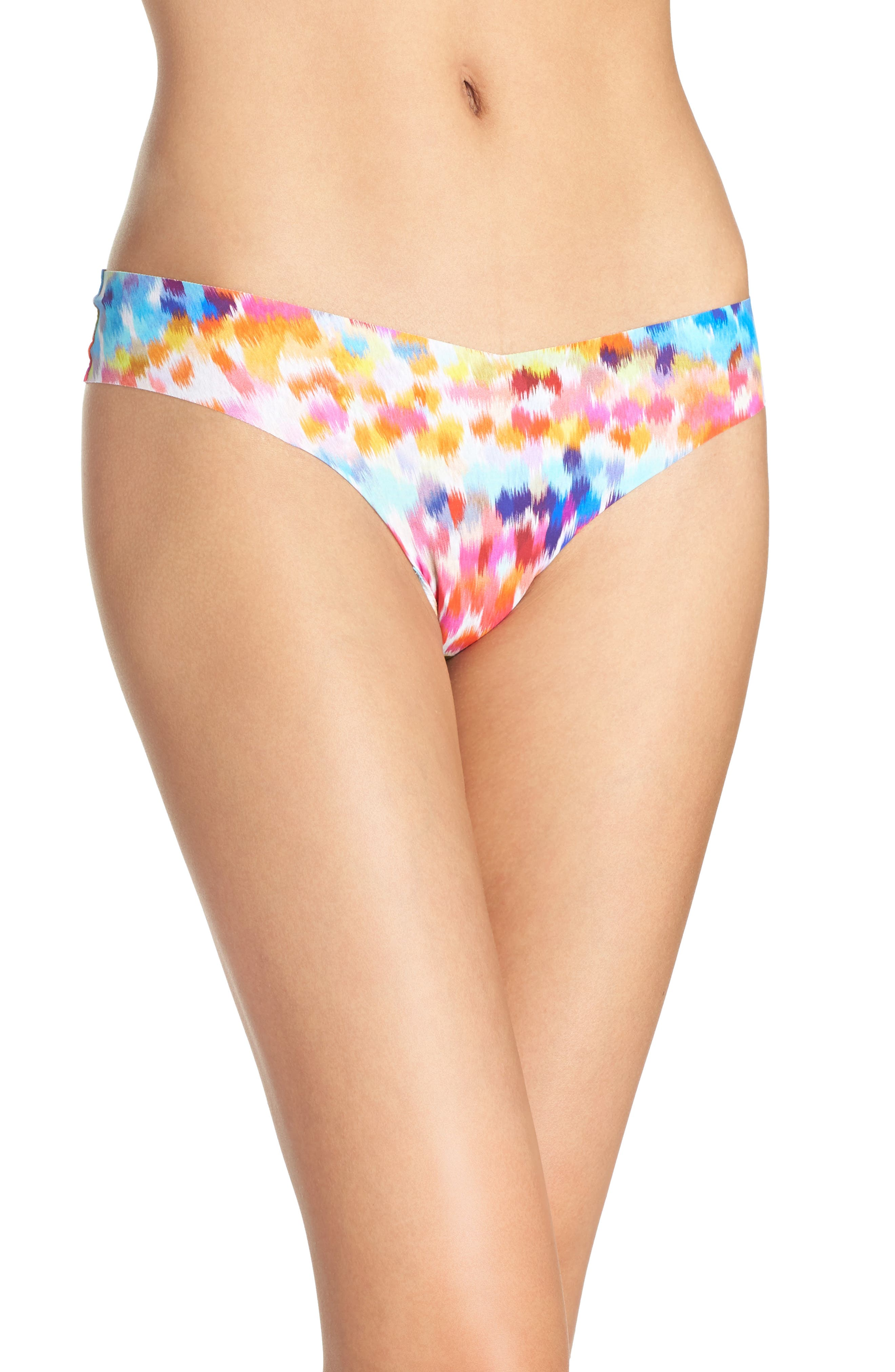 Print Microfiber Thong,                             Main thumbnail 85, color,