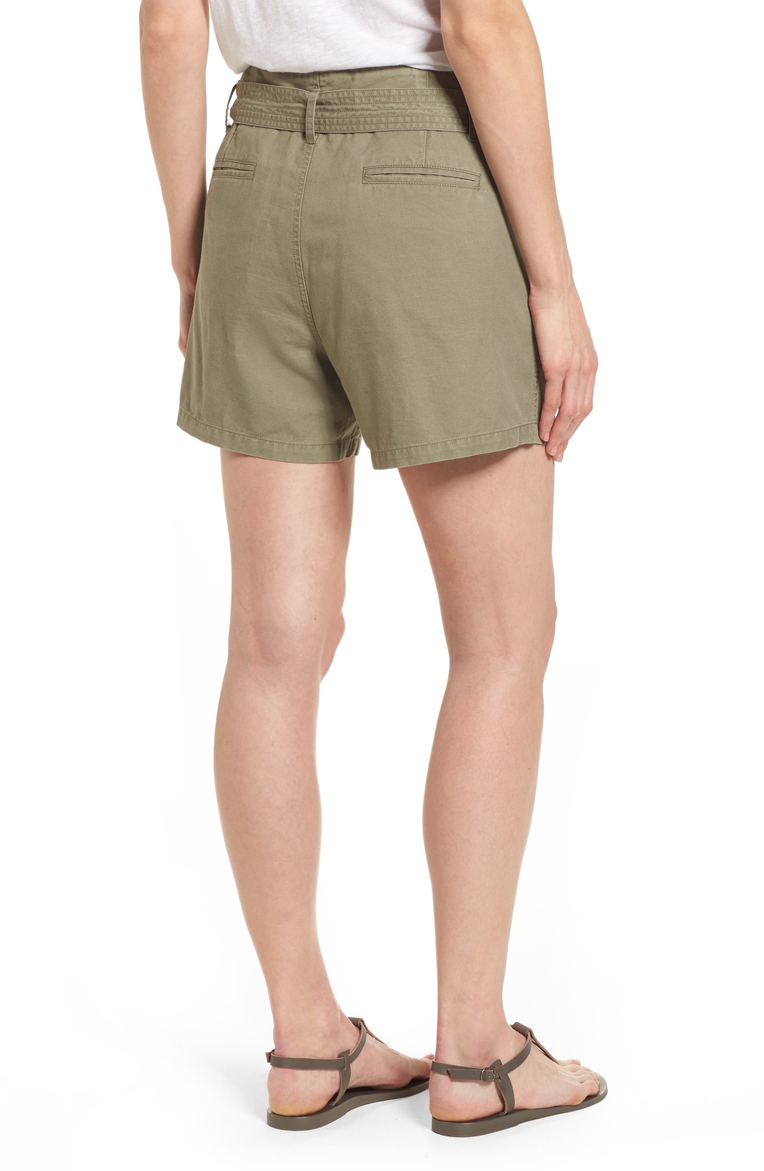 Belted Twill Shorts,                             Alternate thumbnail 7, color,