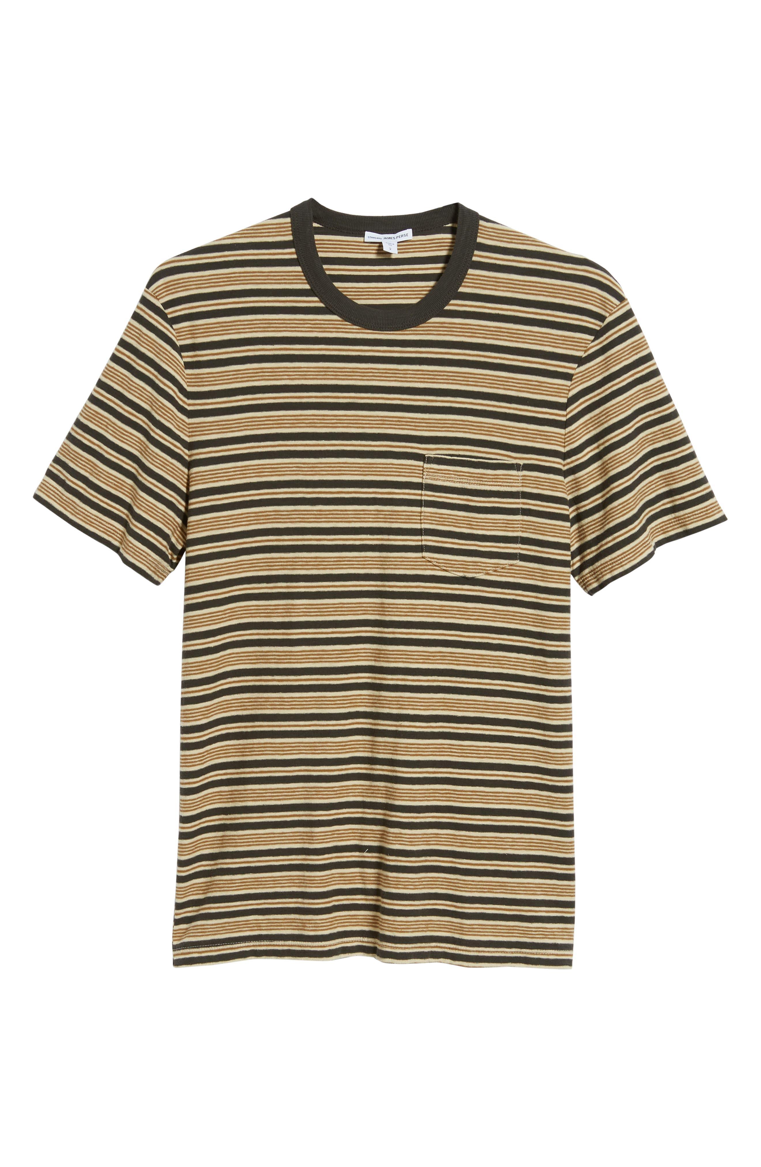Vintage Stripe Regular Fit Pocket T-Shirt,                             Alternate thumbnail 6, color,                             300