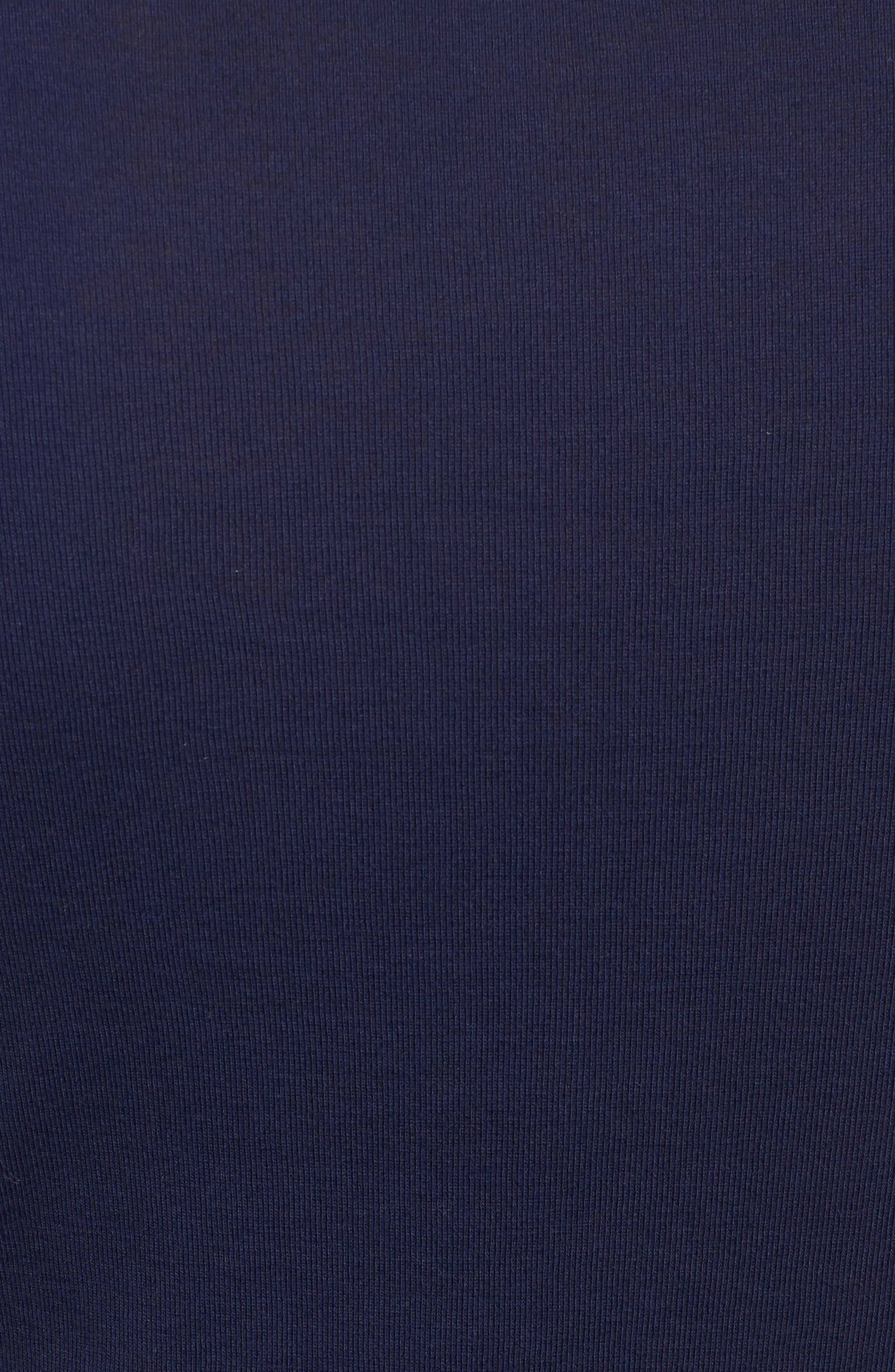 Long Sleeve Scoop Neck Cotton Tee,                             Alternate thumbnail 6, color,                             NAVY PEACOAT