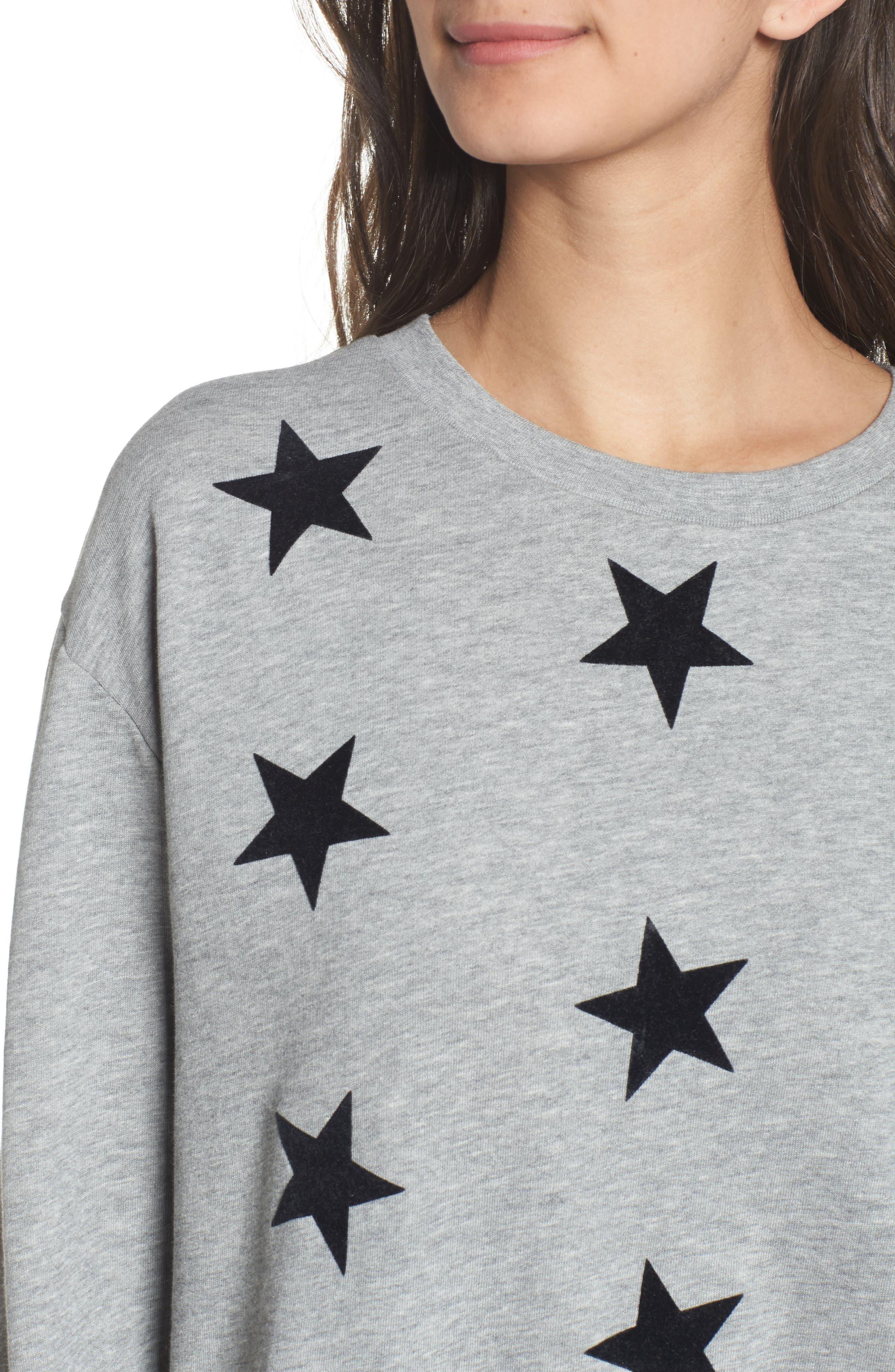 Alexa - Super Stars Sweatshirt,                             Alternate thumbnail 4, color,                             GREY