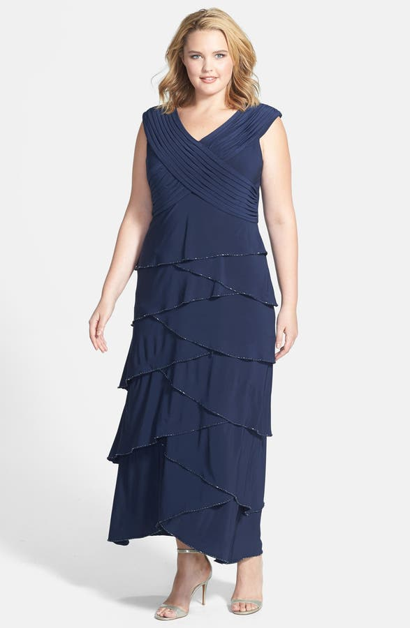 Patra Beaded Tiered Dress Plus Size Nordstrom