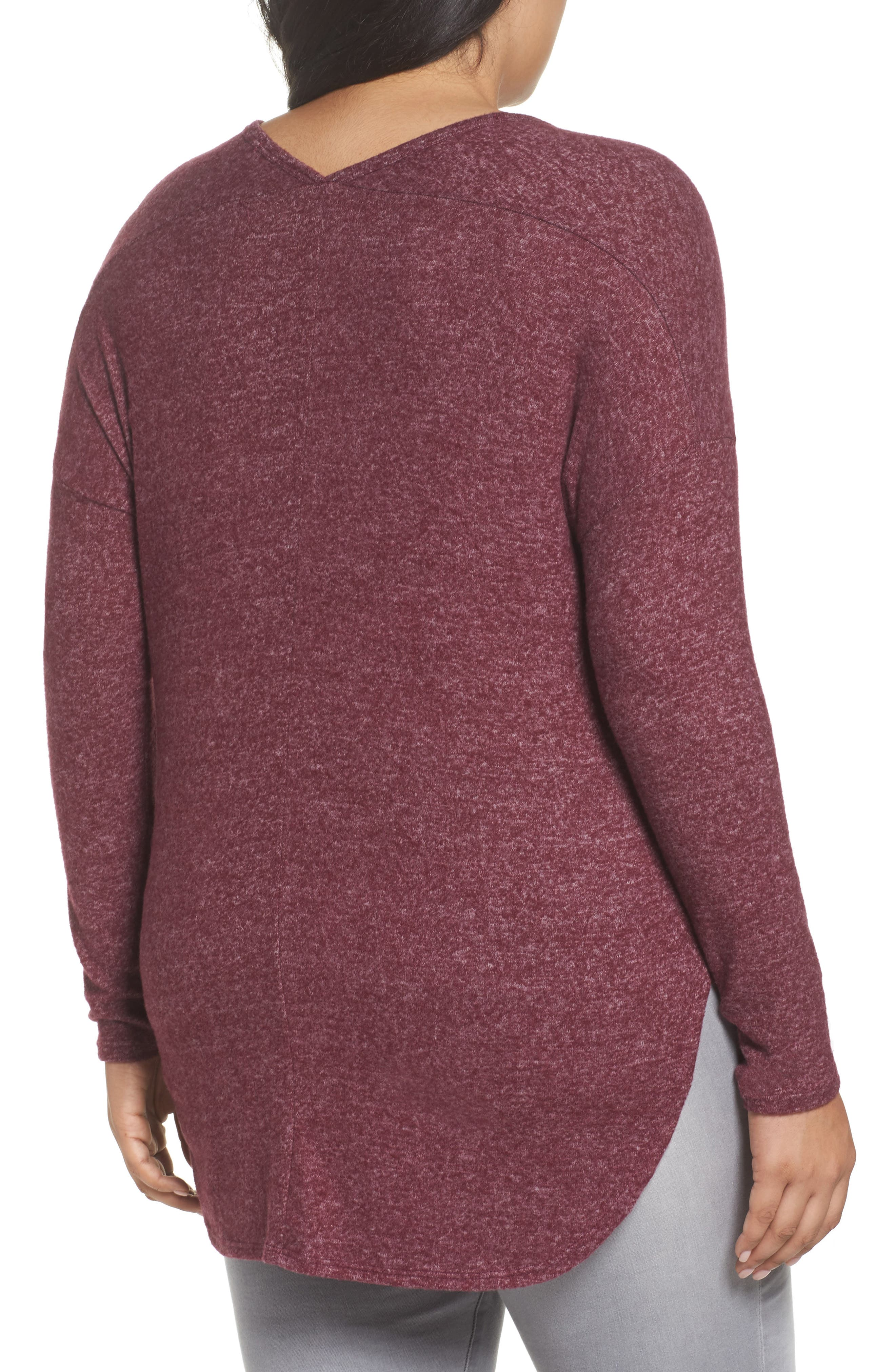 High/Low Knit Top,                             Alternate thumbnail 4, color,