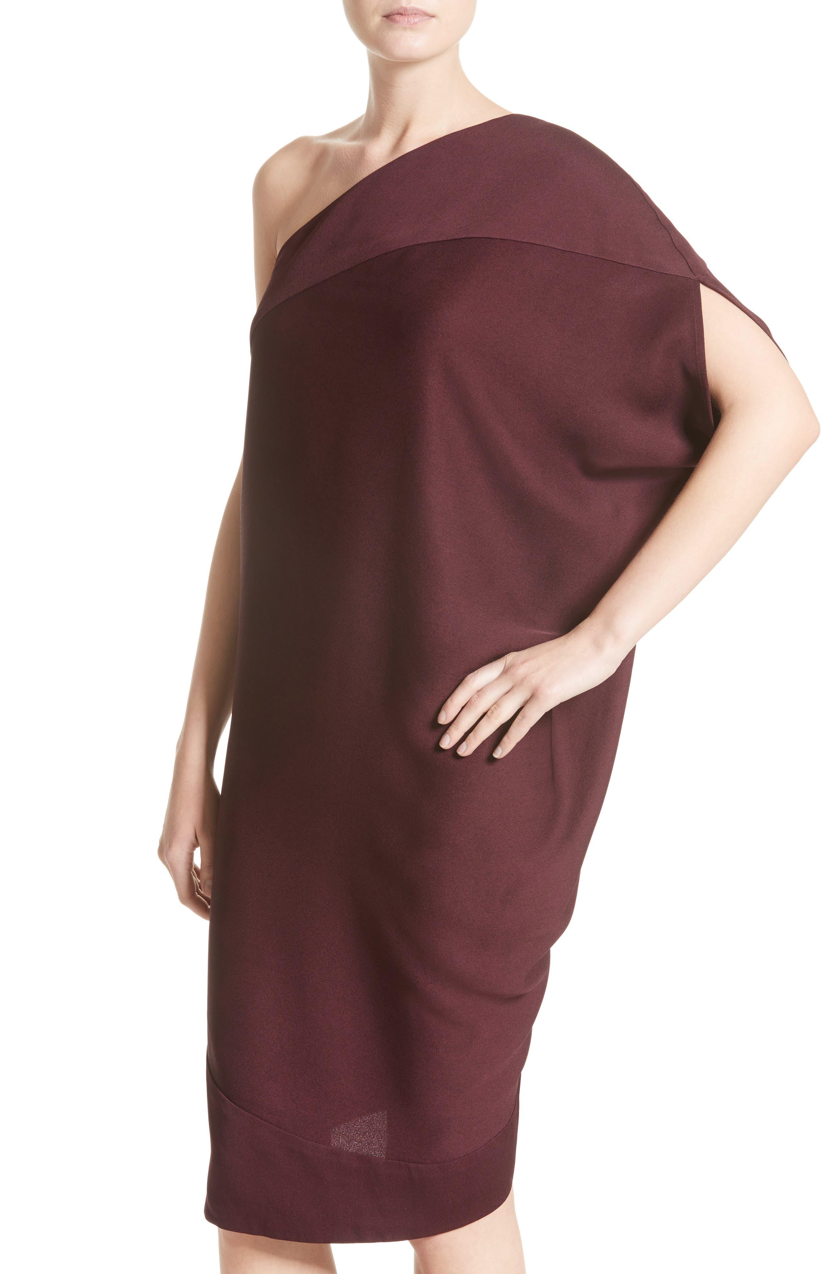 Lui Eco Drape One-Shoulder Dress,                             Alternate thumbnail 4, color,                             930