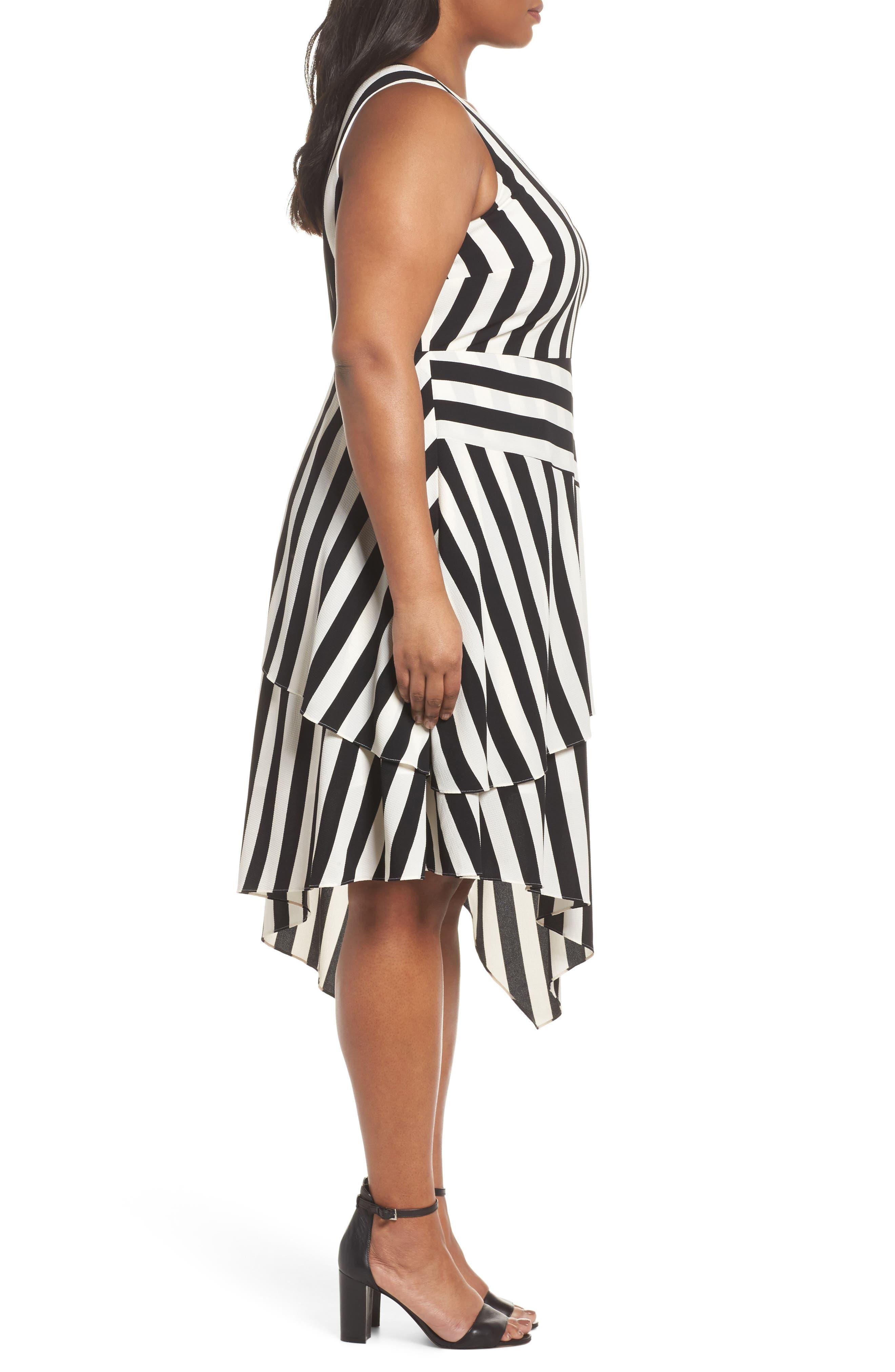 Spectator Asymmetrical Hem Dress,                             Alternate thumbnail 3, color,                             RICH BLACK