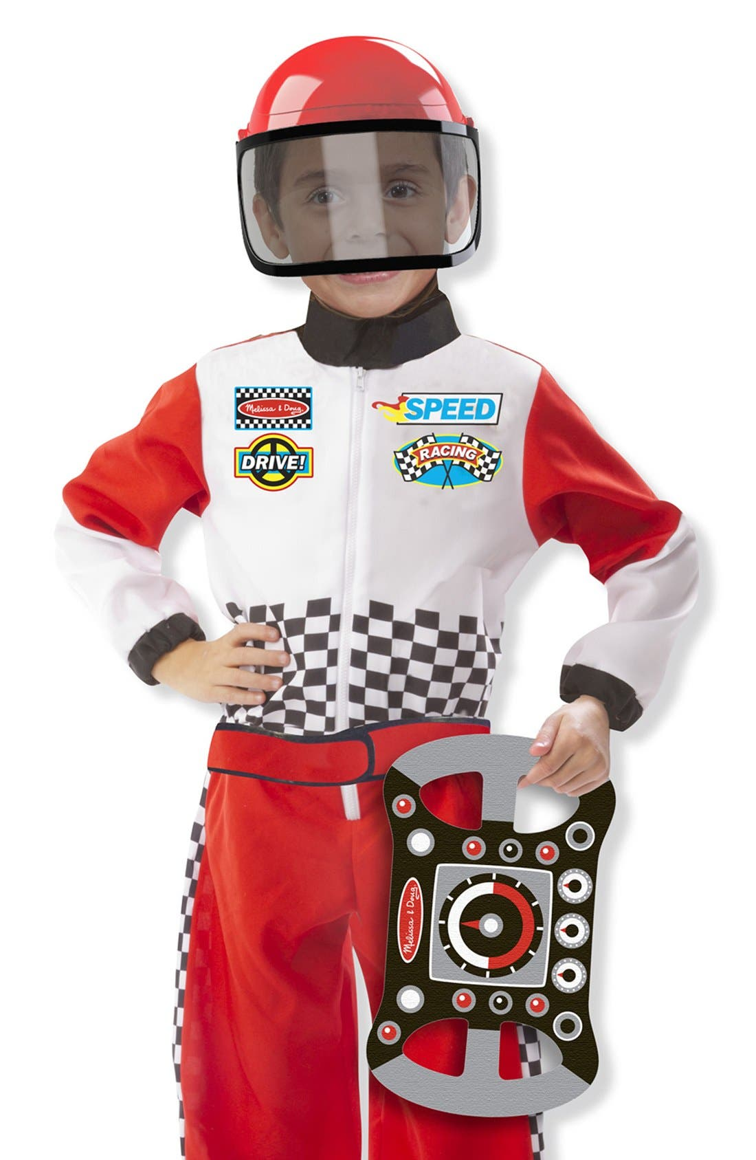 Race Car Driver Role Play Set,                             Main thumbnail 1, color,                             RED