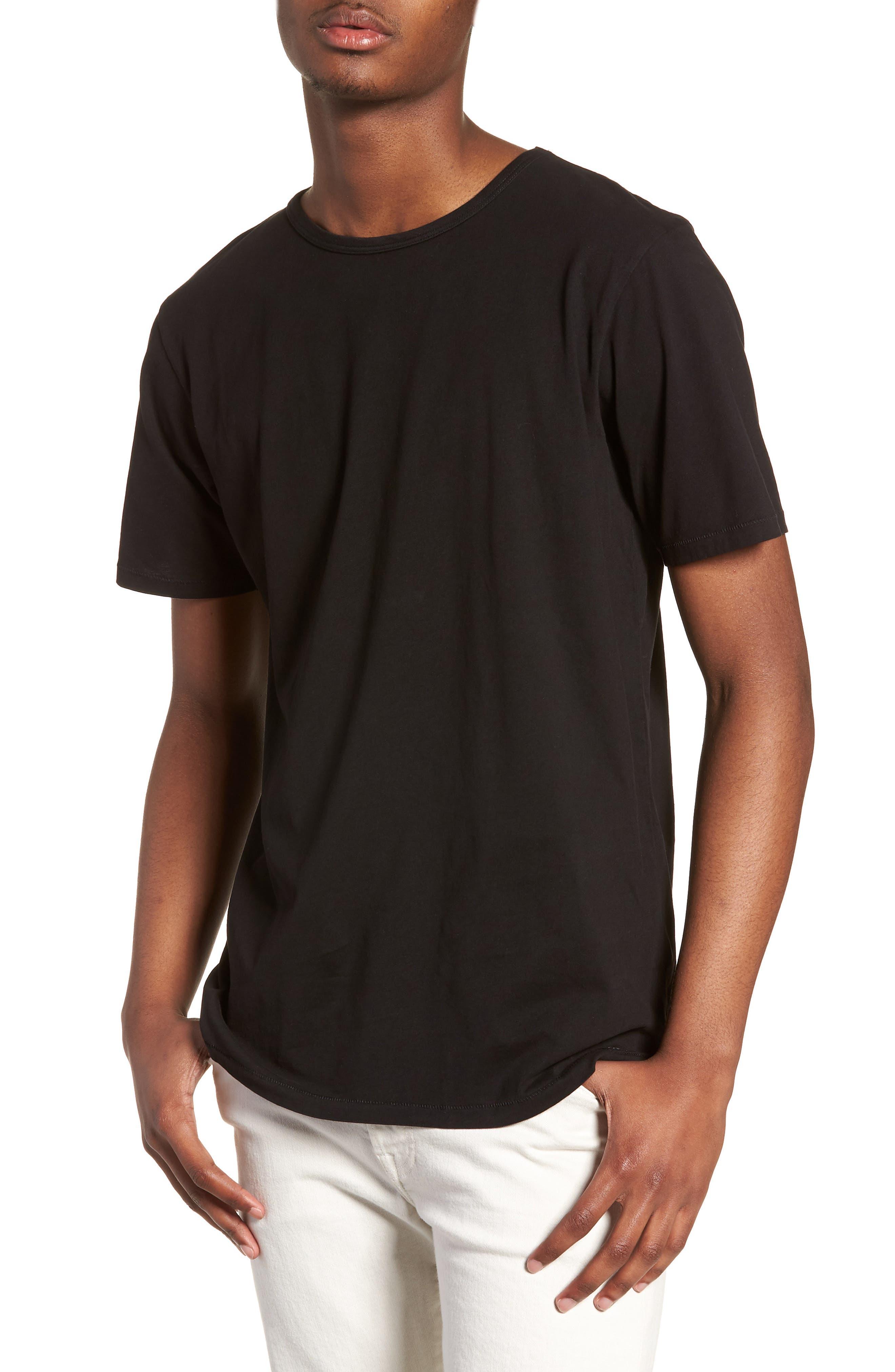 Brandon Pima T-Shirt,                             Main thumbnail 1, color,                             BLACK