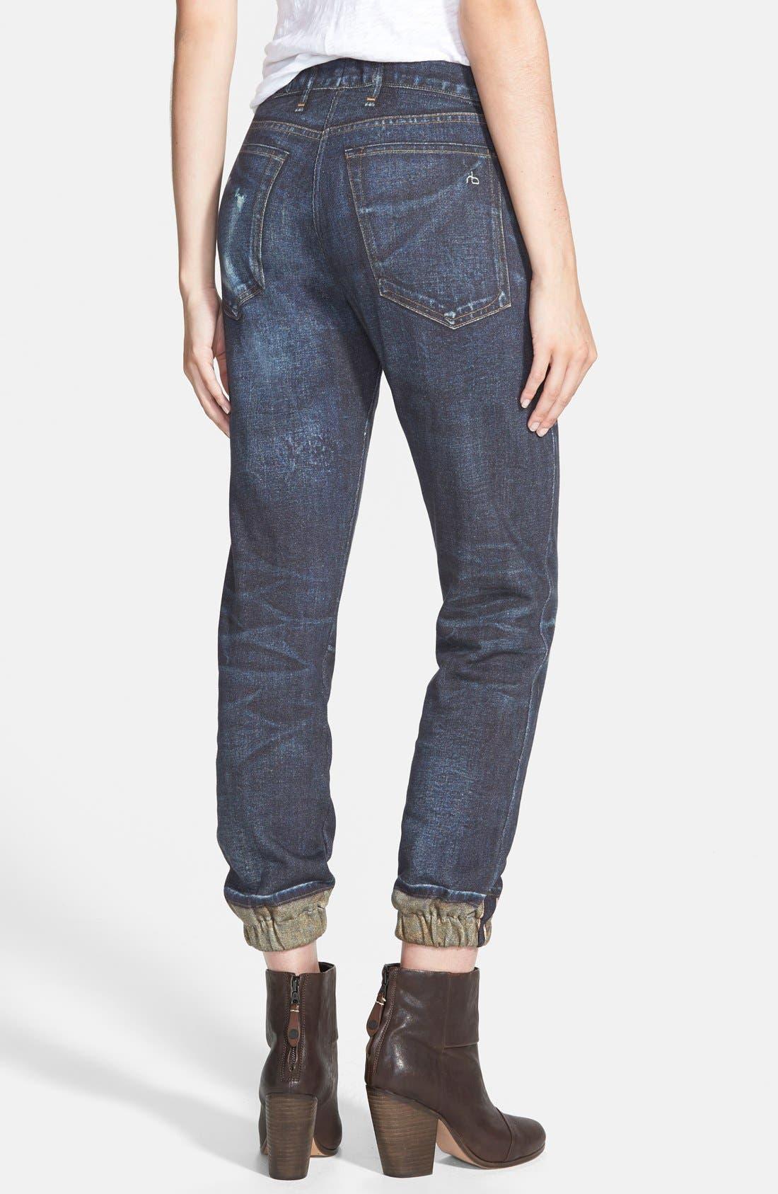 JEAN 'Pajama Jean' Print Sweatpants,                             Alternate thumbnail 3, color,                             404