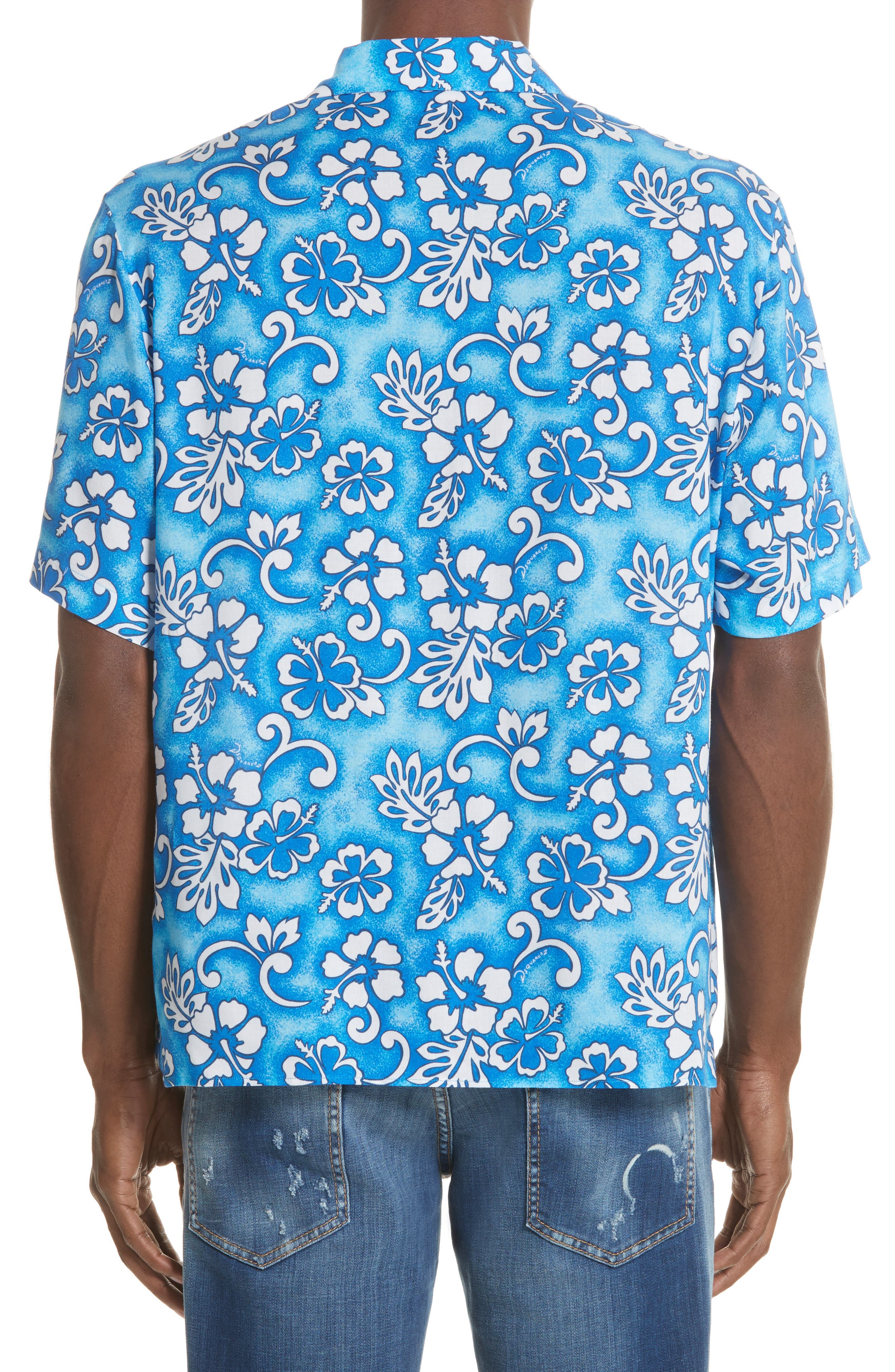 Floral Print Camp Shirt,                             Alternate thumbnail 2, color,                             400