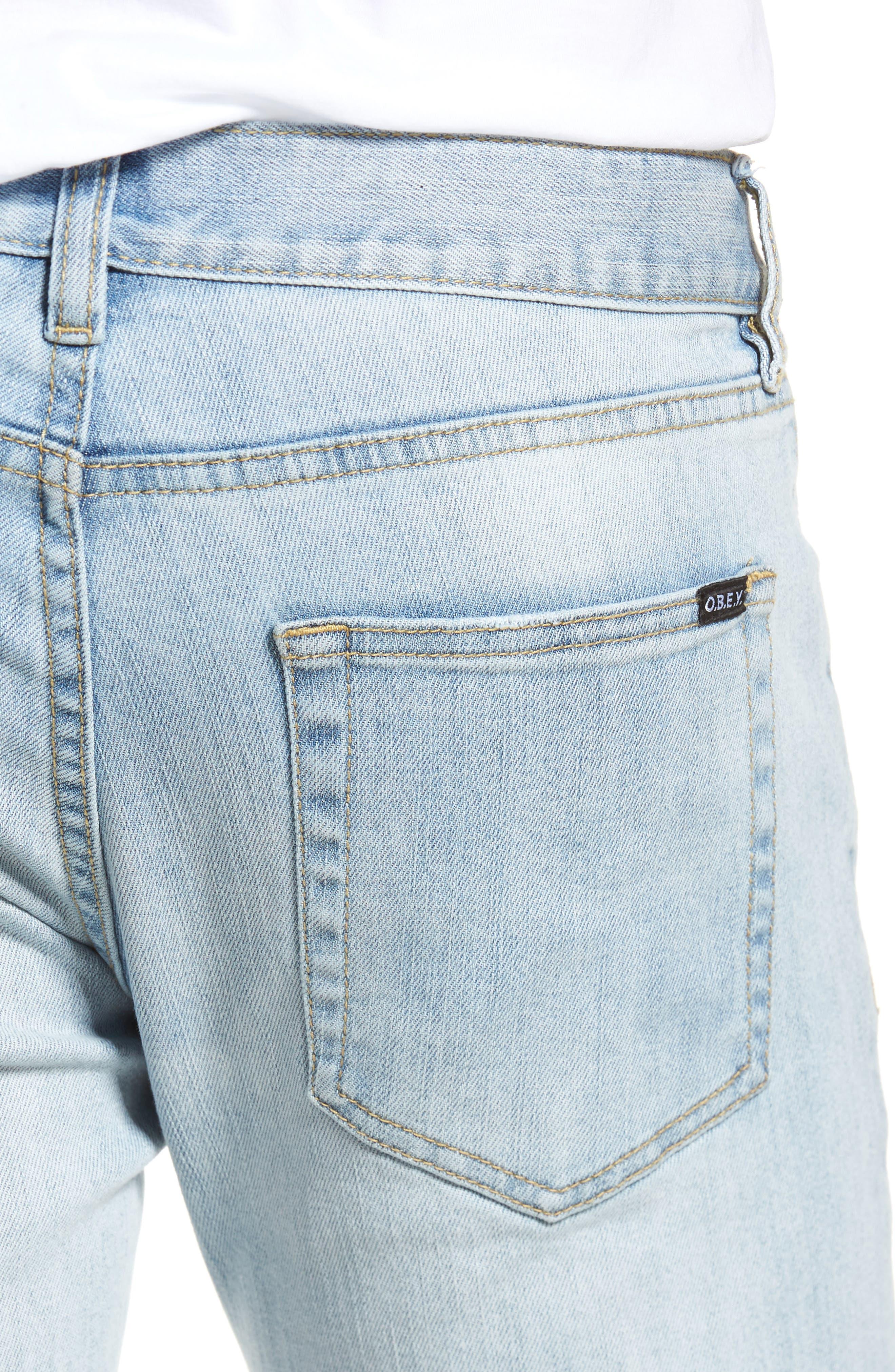 Juvee II Skinny Fit Jeans,                             Alternate thumbnail 4, color,                             400