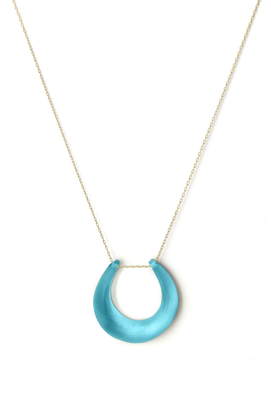 Small Horseshoe Necklace,                             Main thumbnail 4, color,