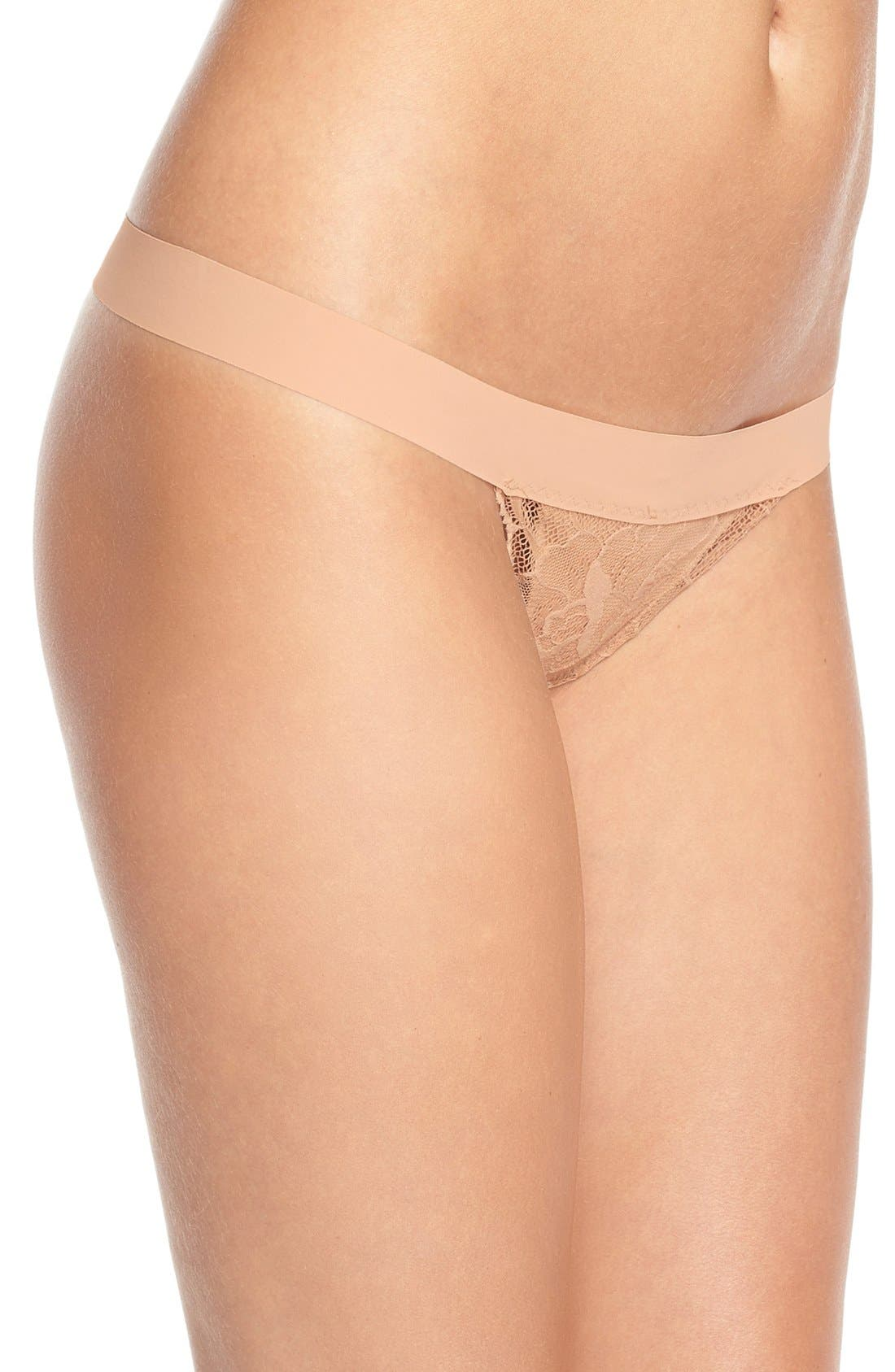 'Double Take' Lace G-String Thong,                             Alternate thumbnail 17, color,