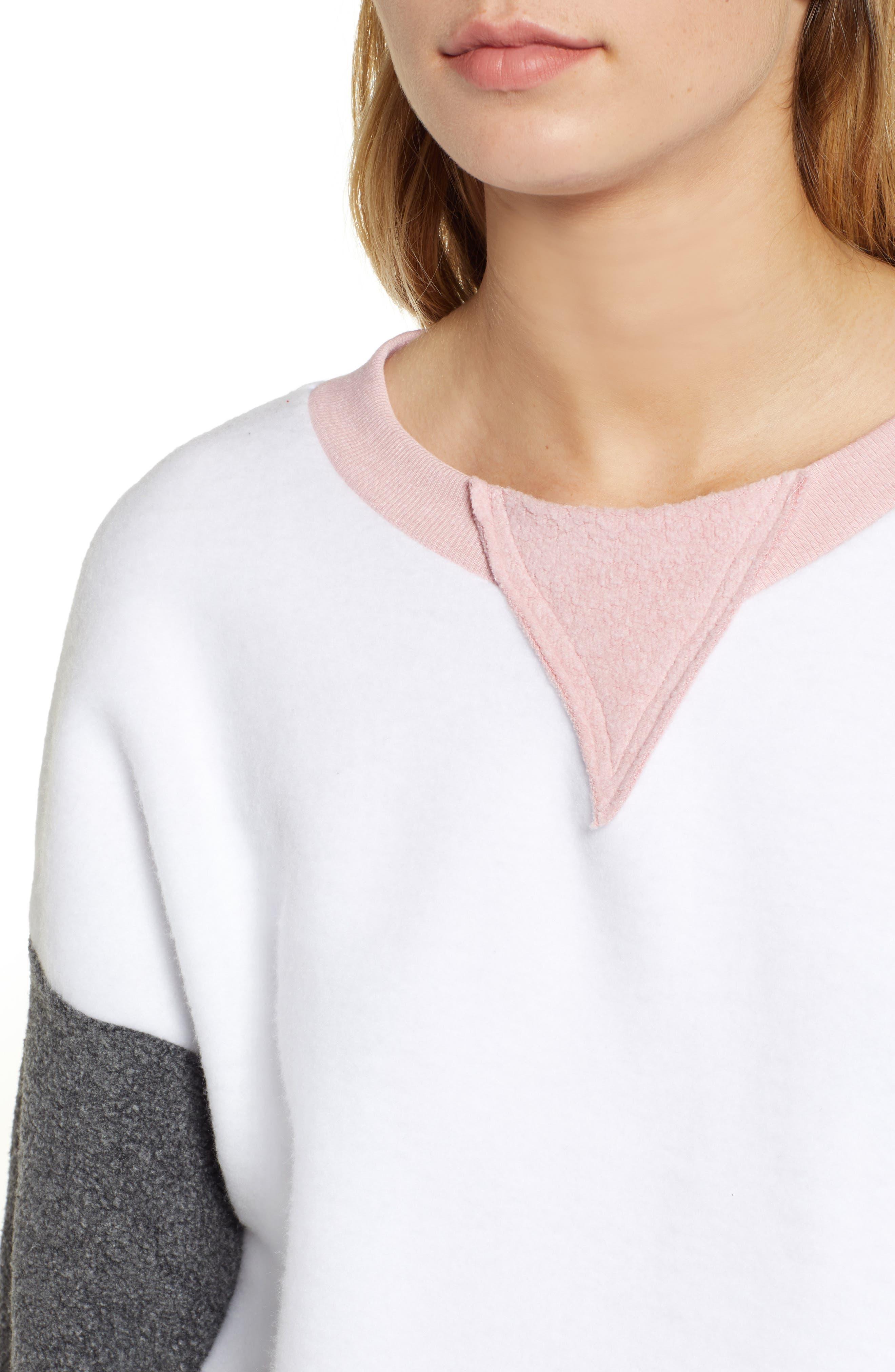 True Love Sweatshirt,                             Alternate thumbnail 4, color,                             CLEAN WHITE MULTI