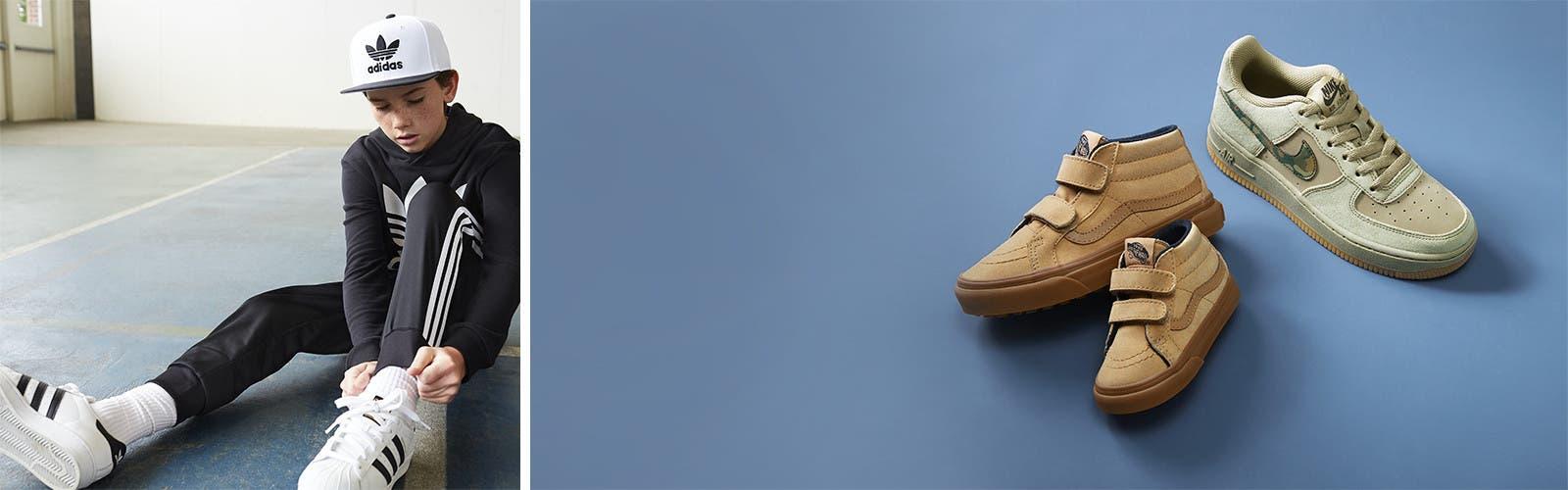 Fresh kicks: boys' shoes.