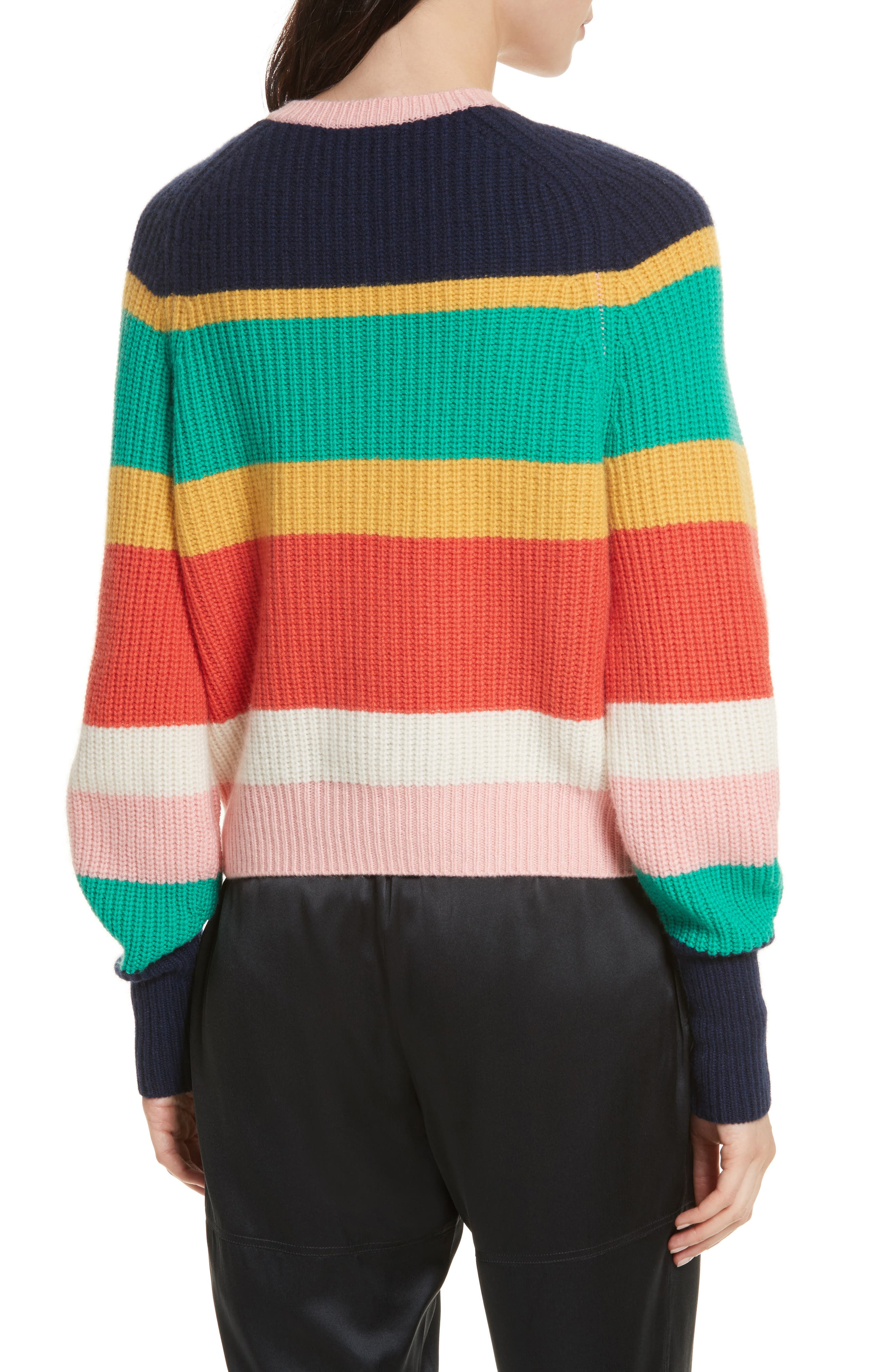 Haady Stripe Wool & Cashmere Sweater,                             Alternate thumbnail 2, color,                             475