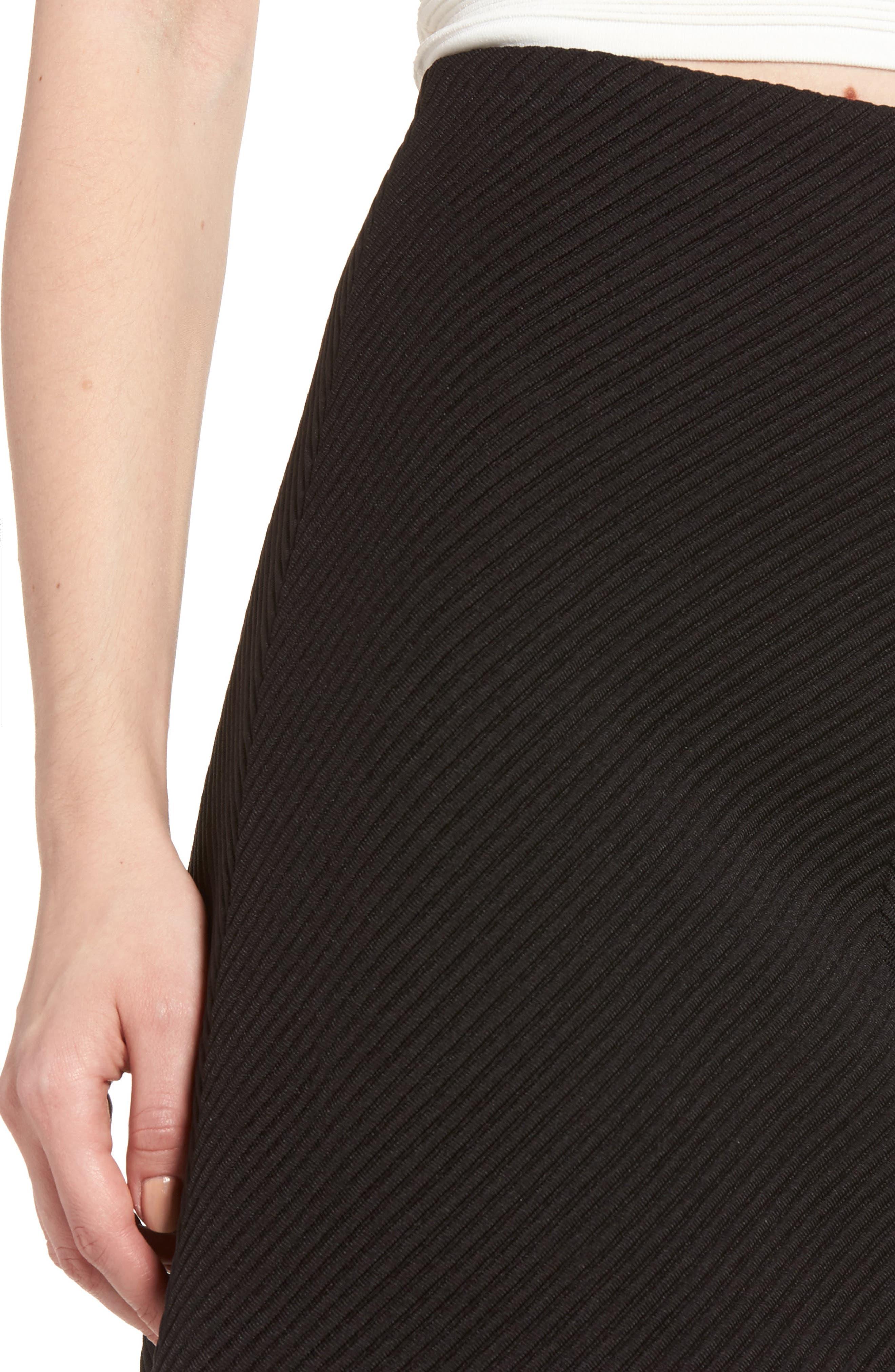 A-Line Knit Miniskirt,                             Alternate thumbnail 4, color,                             001
