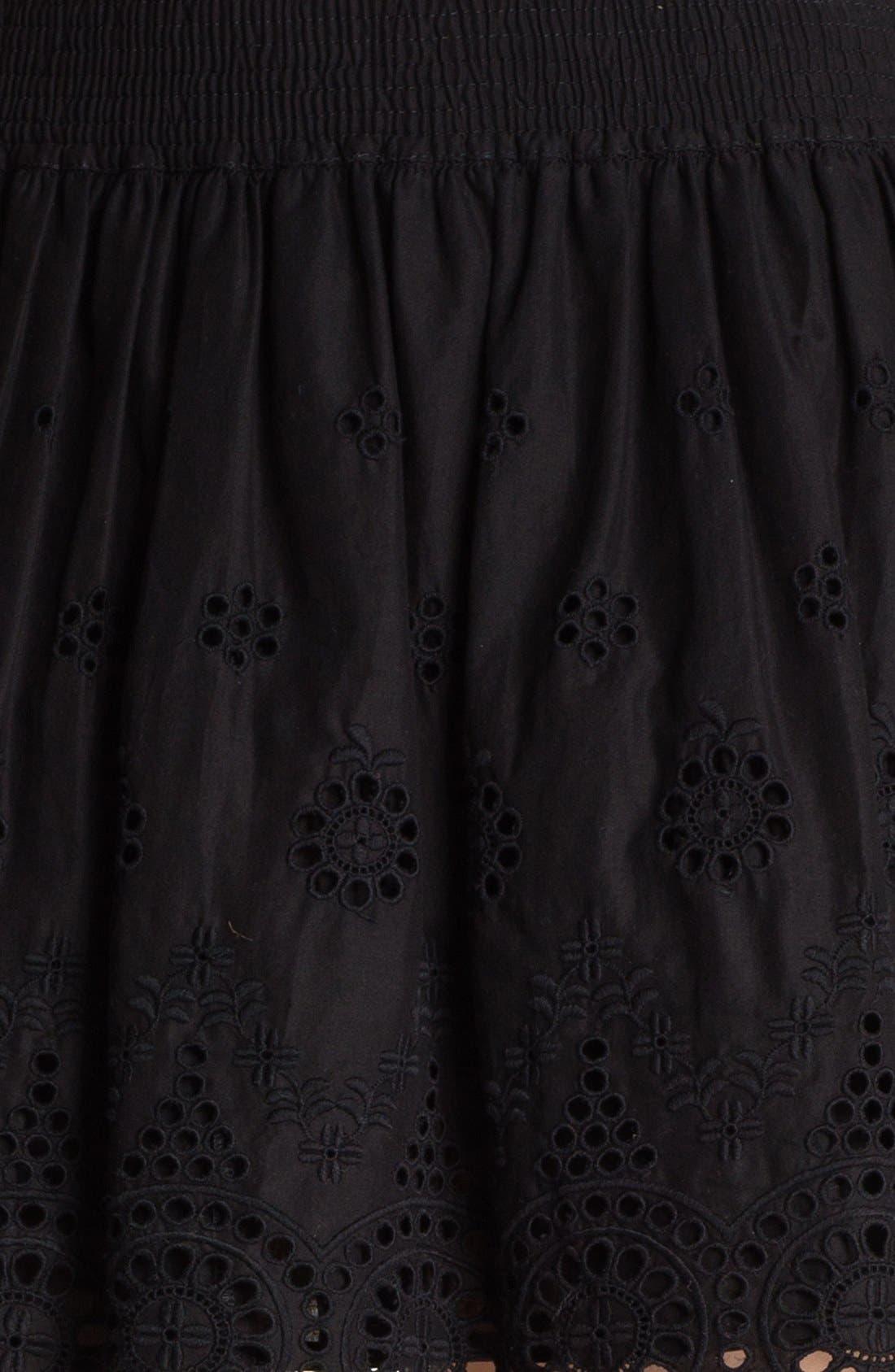 Eyelet Embroidered Skirt,                             Alternate thumbnail 3, color,                             001