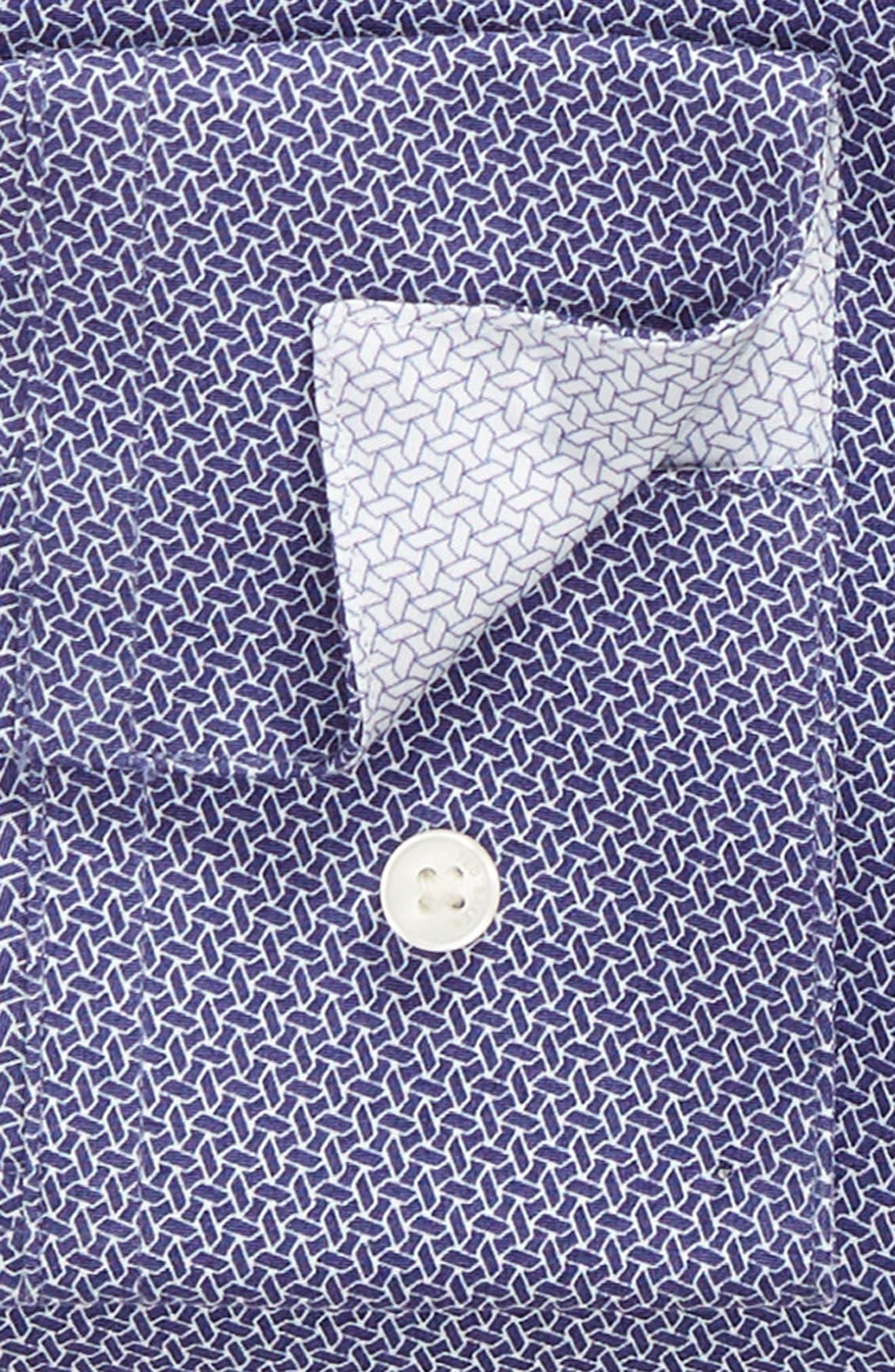Strame Slim Fit Geometric Dress Shirt,                             Alternate thumbnail 6, color,                             510