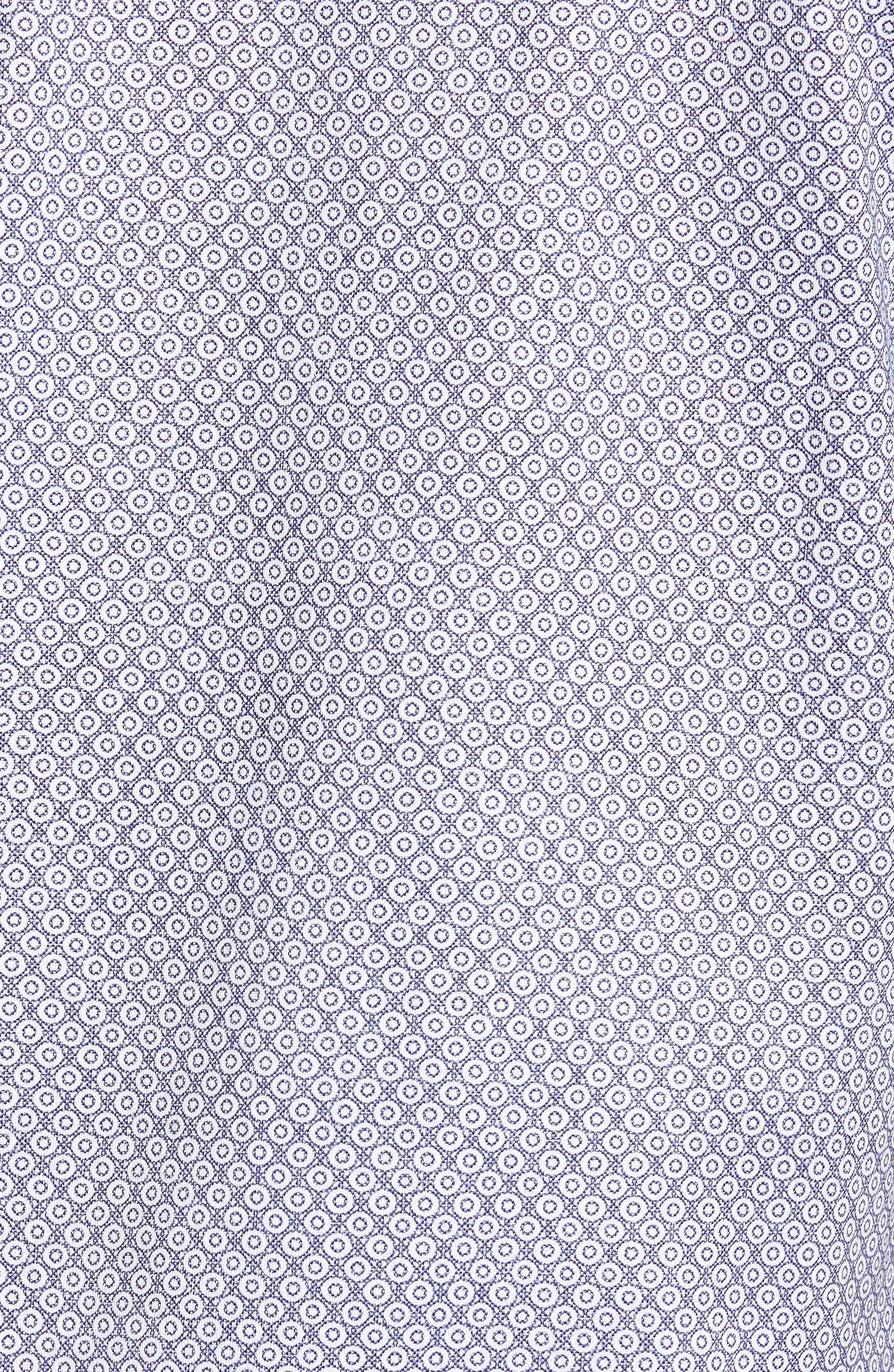 Contemporary Fit Geo Tech Sport Shirt,                             Alternate thumbnail 5, color,                             WHITE