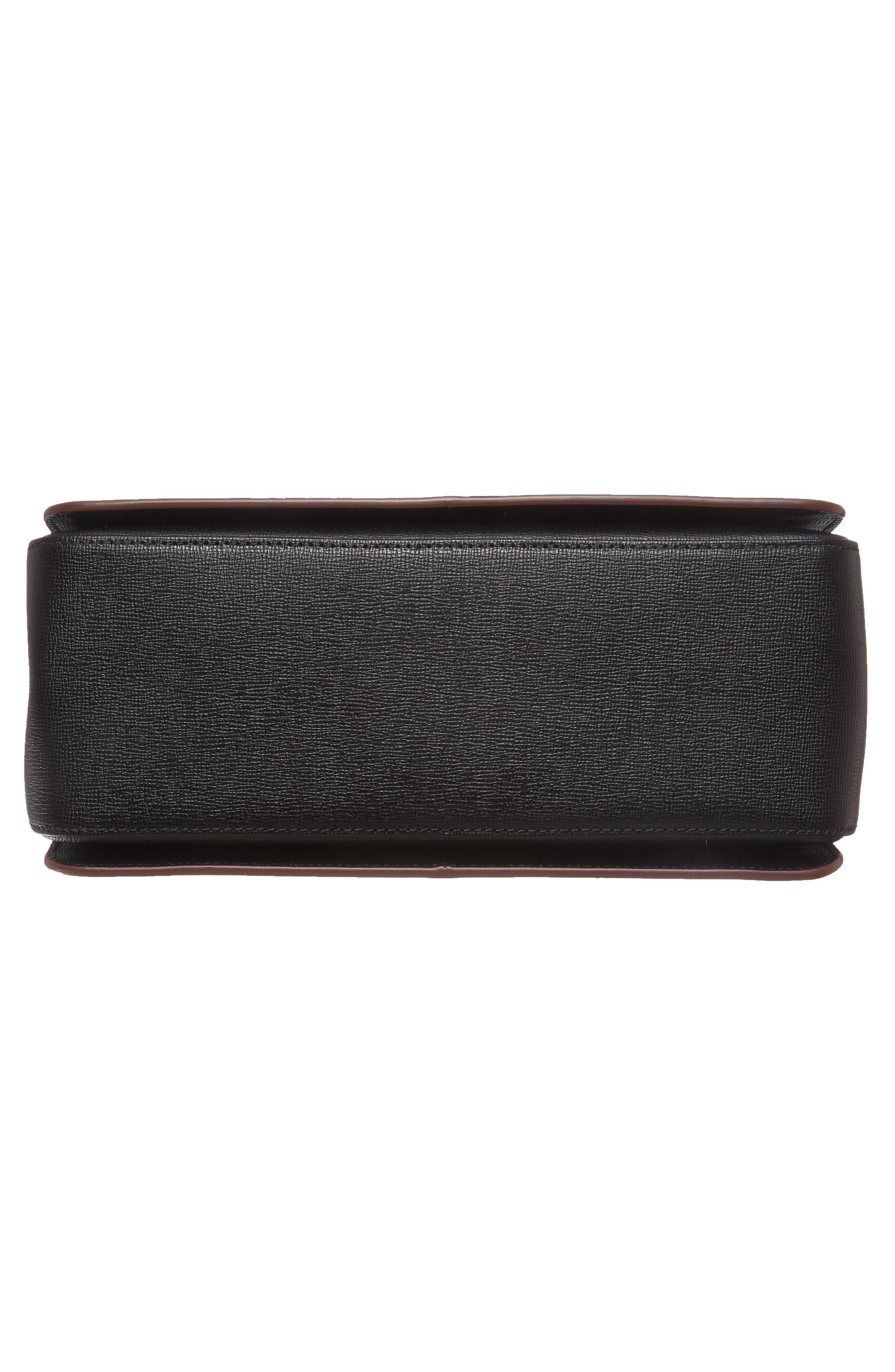 Pliage Heritage Leather Shoulder Bag,                             Alternate thumbnail 7, color,                             BLACK