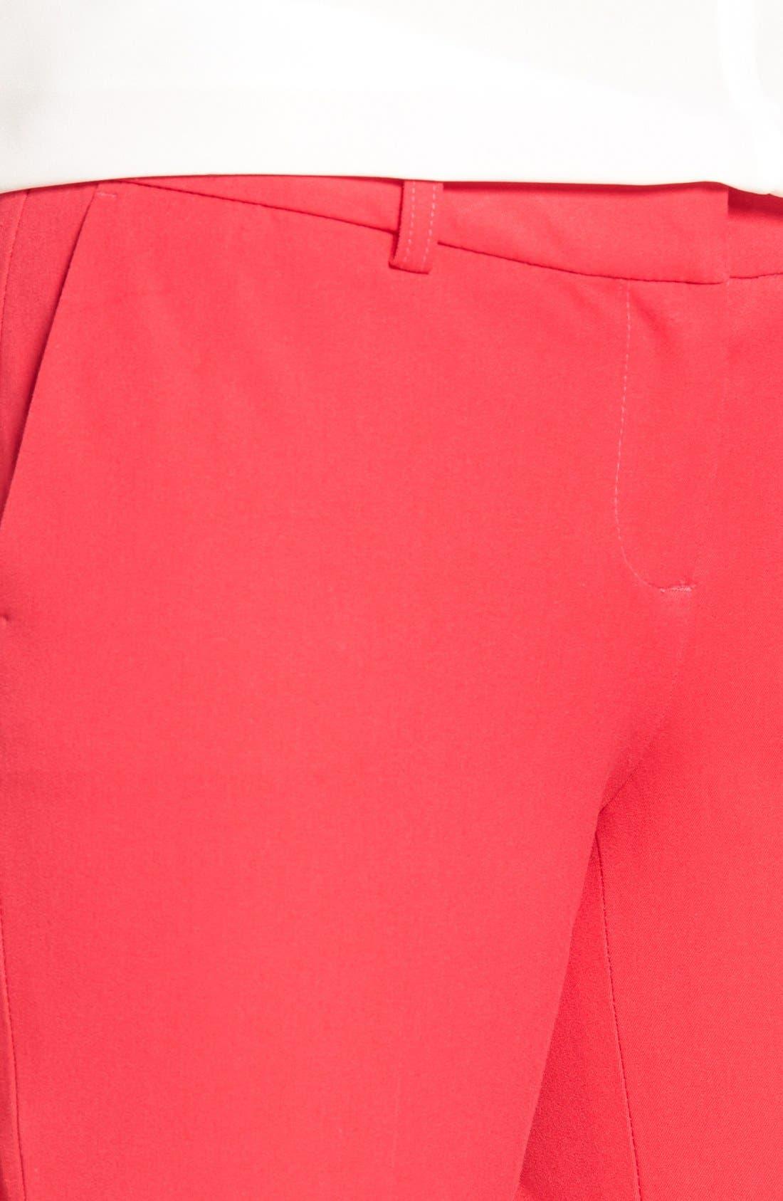 Crop Stretch Cotton Pants,                             Alternate thumbnail 103, color,
