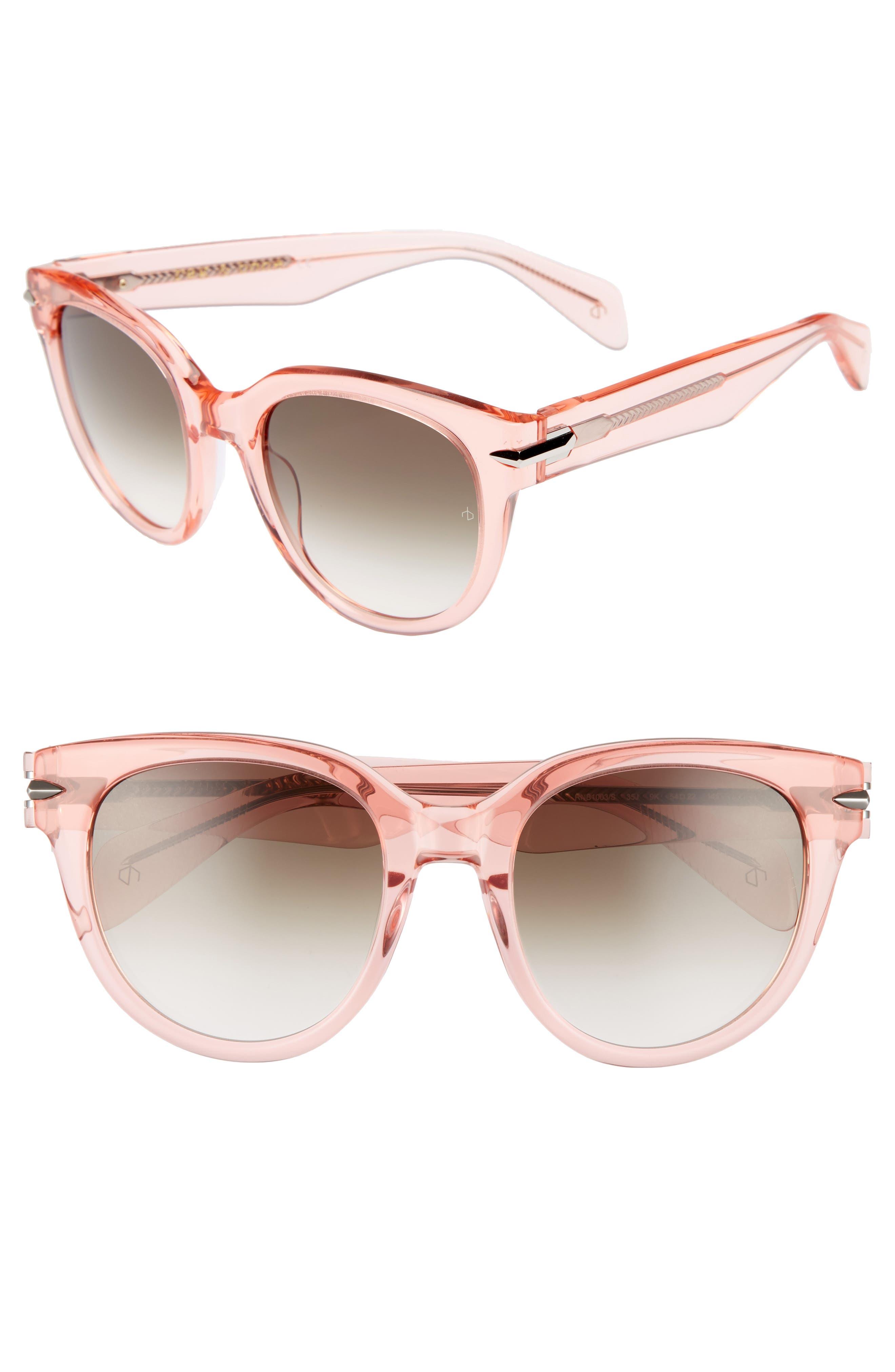 54mm Cat Eye Sunglasses,                             Main thumbnail 1, color,                             PINK