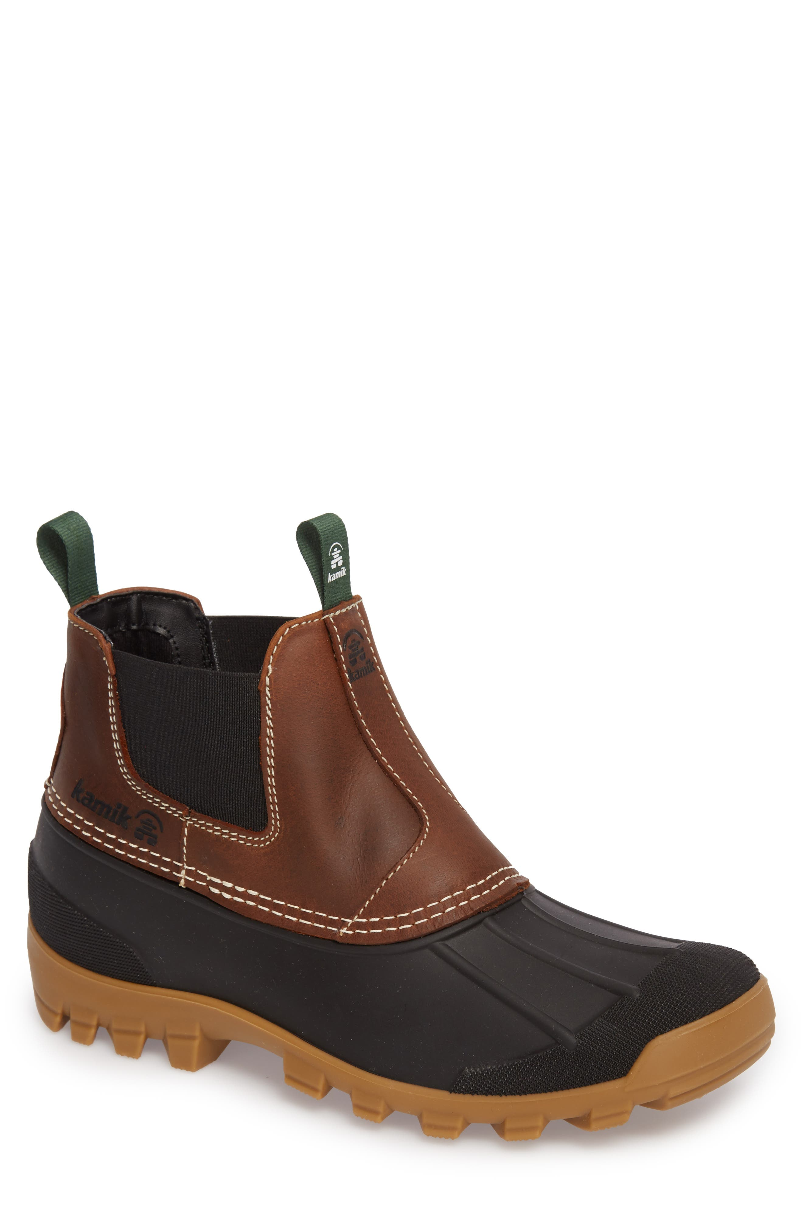 Yukon Chelsea Boot,                             Main thumbnail 1, color,                             DARK BROWN LEATHER