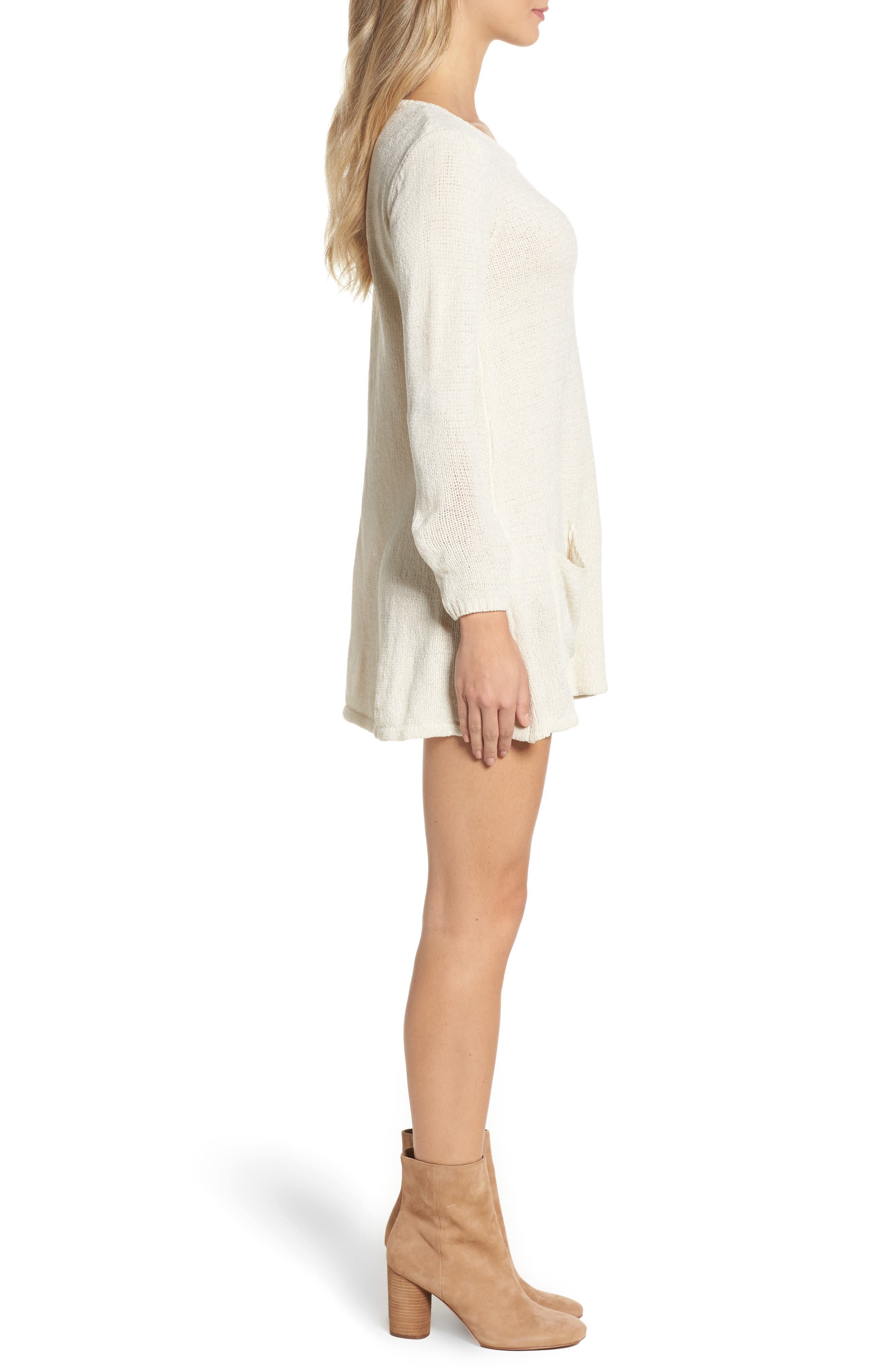 Beverly Sweater Dress,                             Alternate thumbnail 3, color,                             260