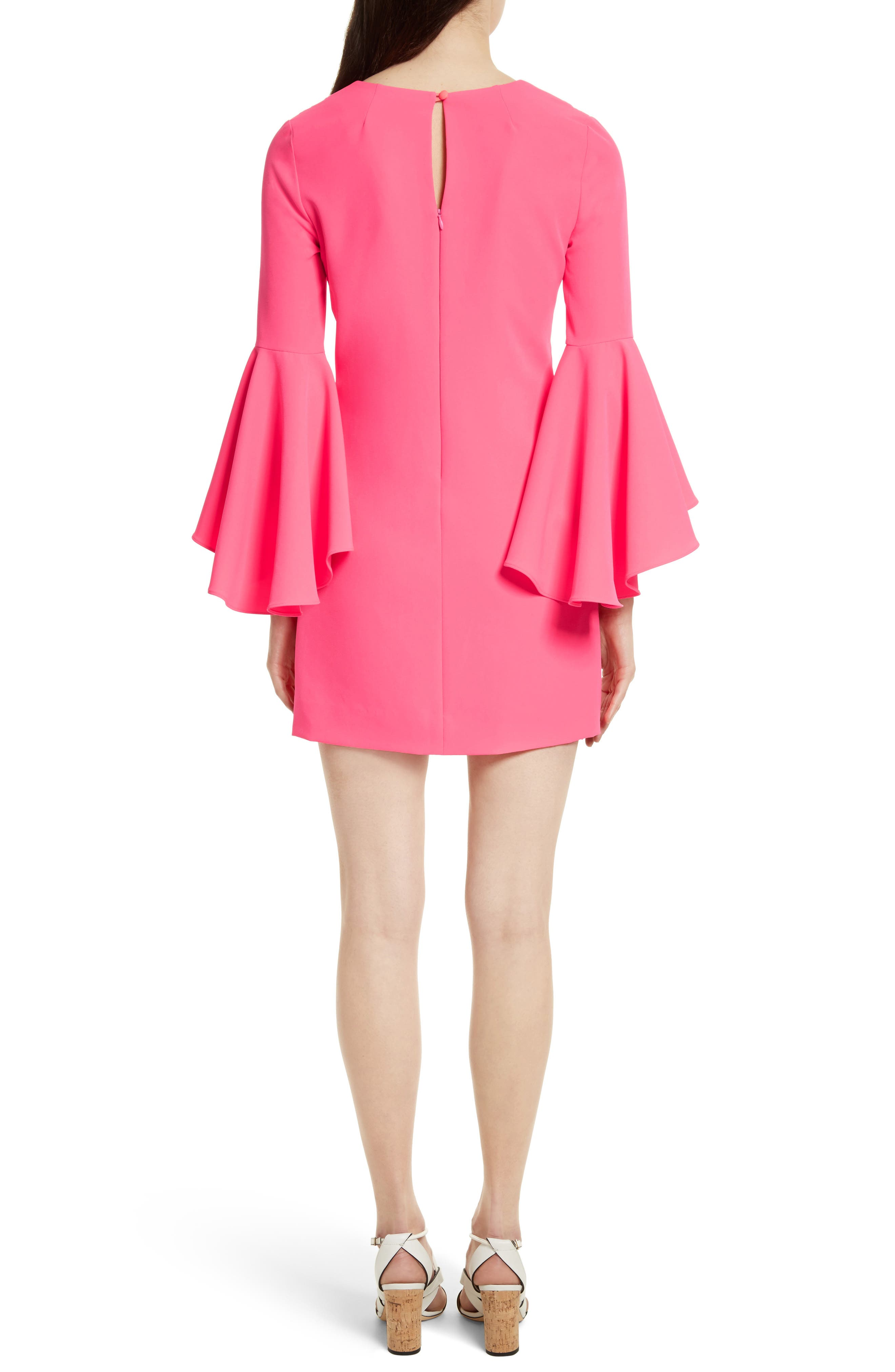 Nicole Bell Sleeve Dress,                             Alternate thumbnail 28, color,