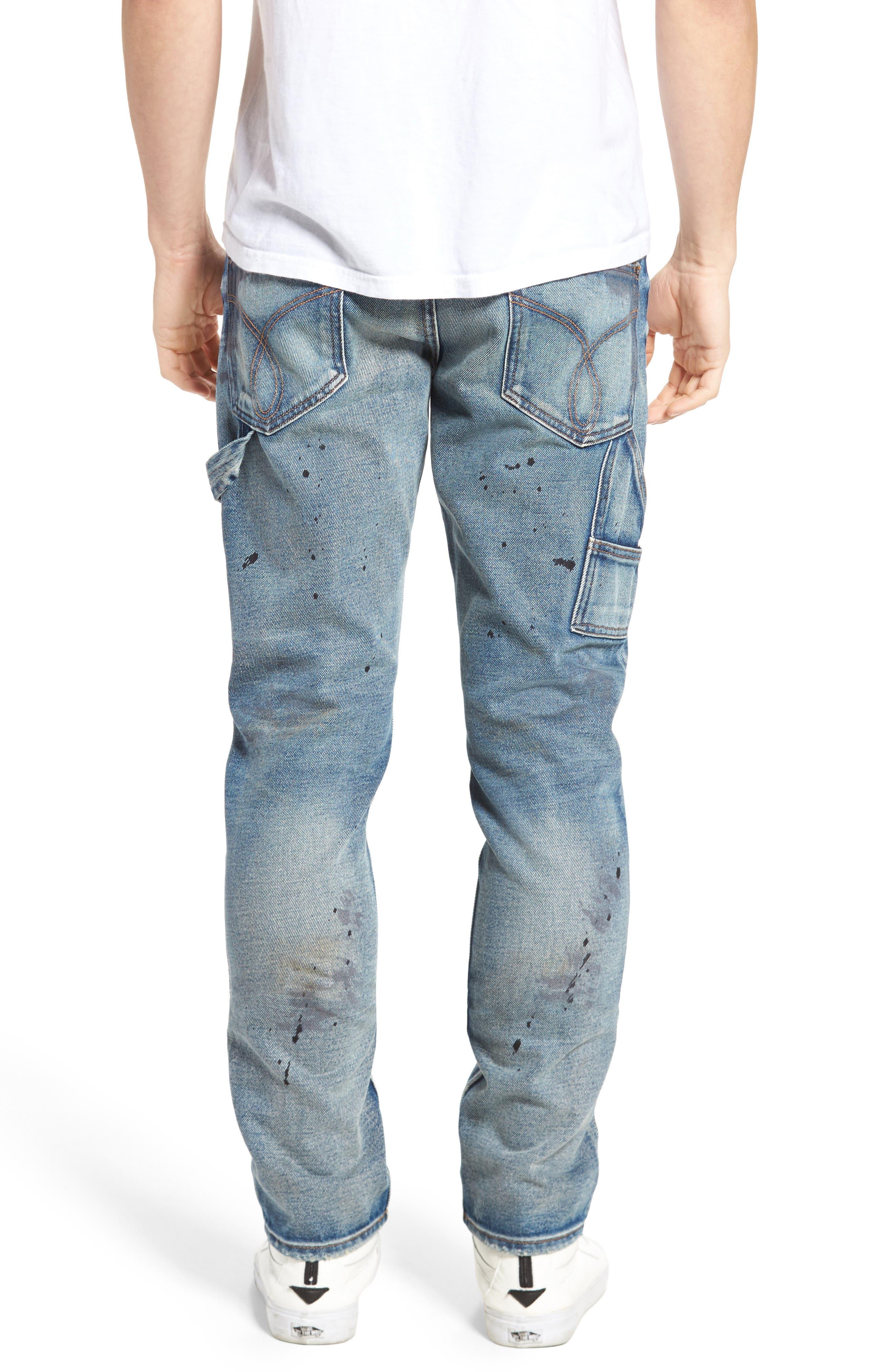 Carpenter Slim Fit Jeans,                             Alternate thumbnail 2, color,                             492