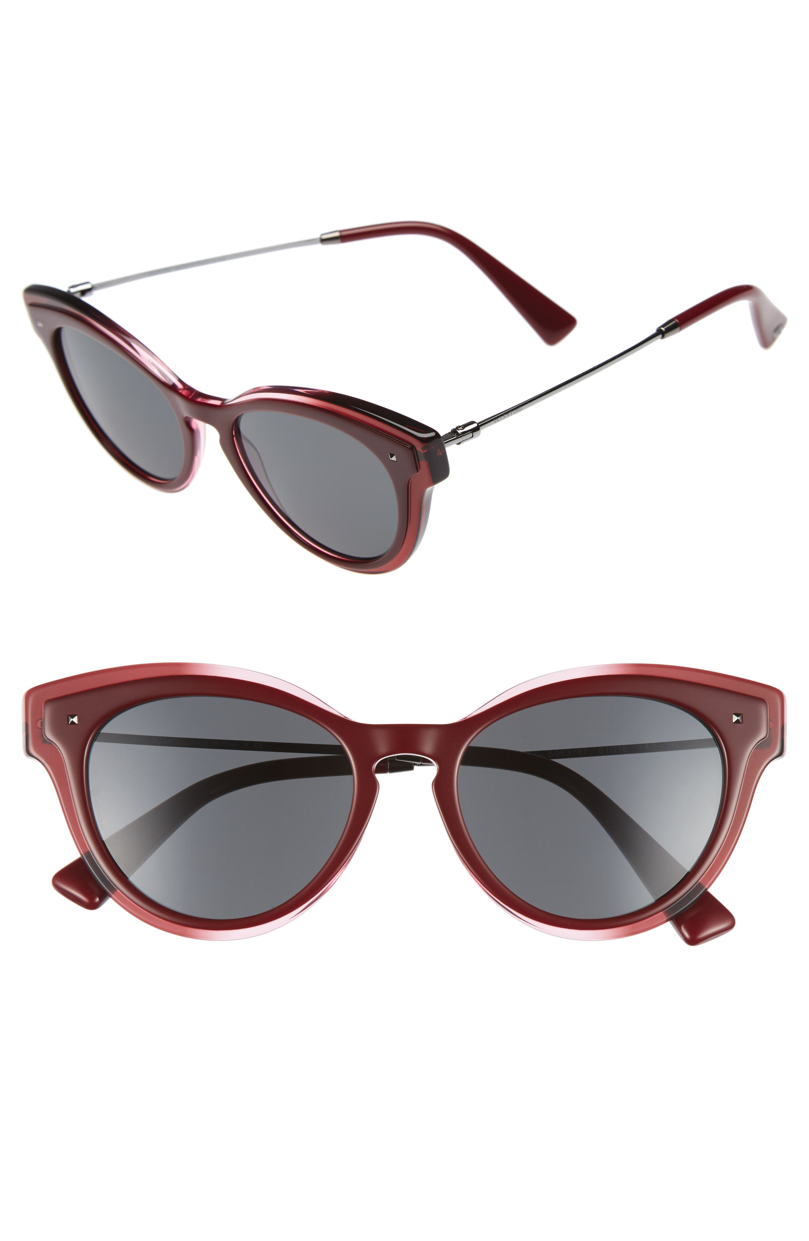 51mm Cat Eye Sunglasses,                             Main thumbnail 1, color,                             600
