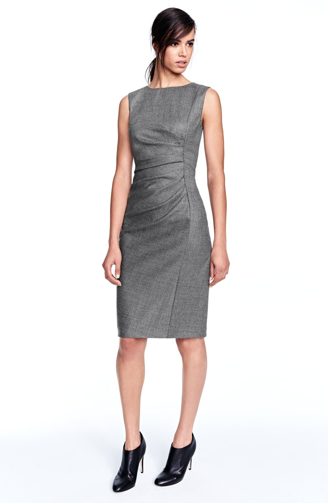 'Terry' Wool Blend Sheath Dress,                             Alternate thumbnail 6, color,