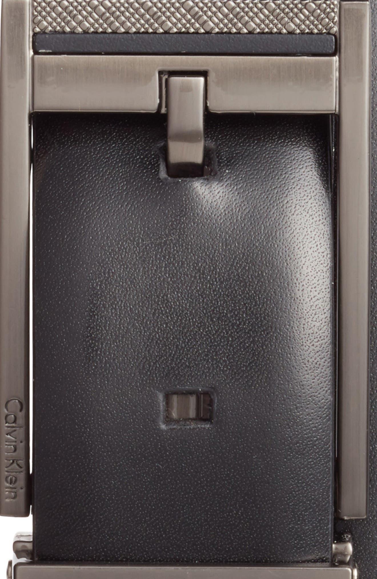 Reversible Leather Belt,                             Alternate thumbnail 2, color,                             BLACK