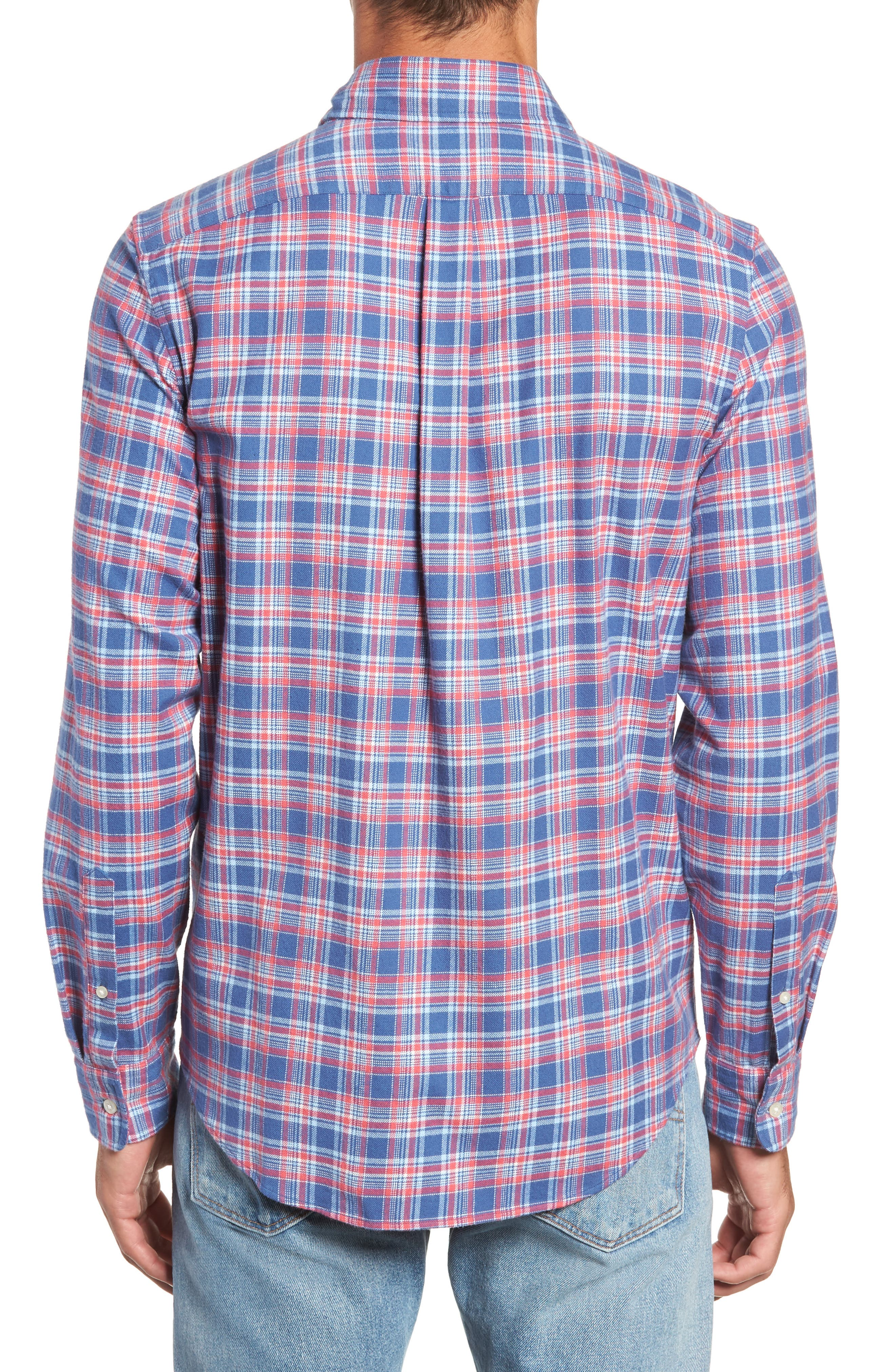 VINEYARD VINES,                             Lockwood Regular Fit Plaid Flannel Shirt,                             Alternate thumbnail 3, color,                             463