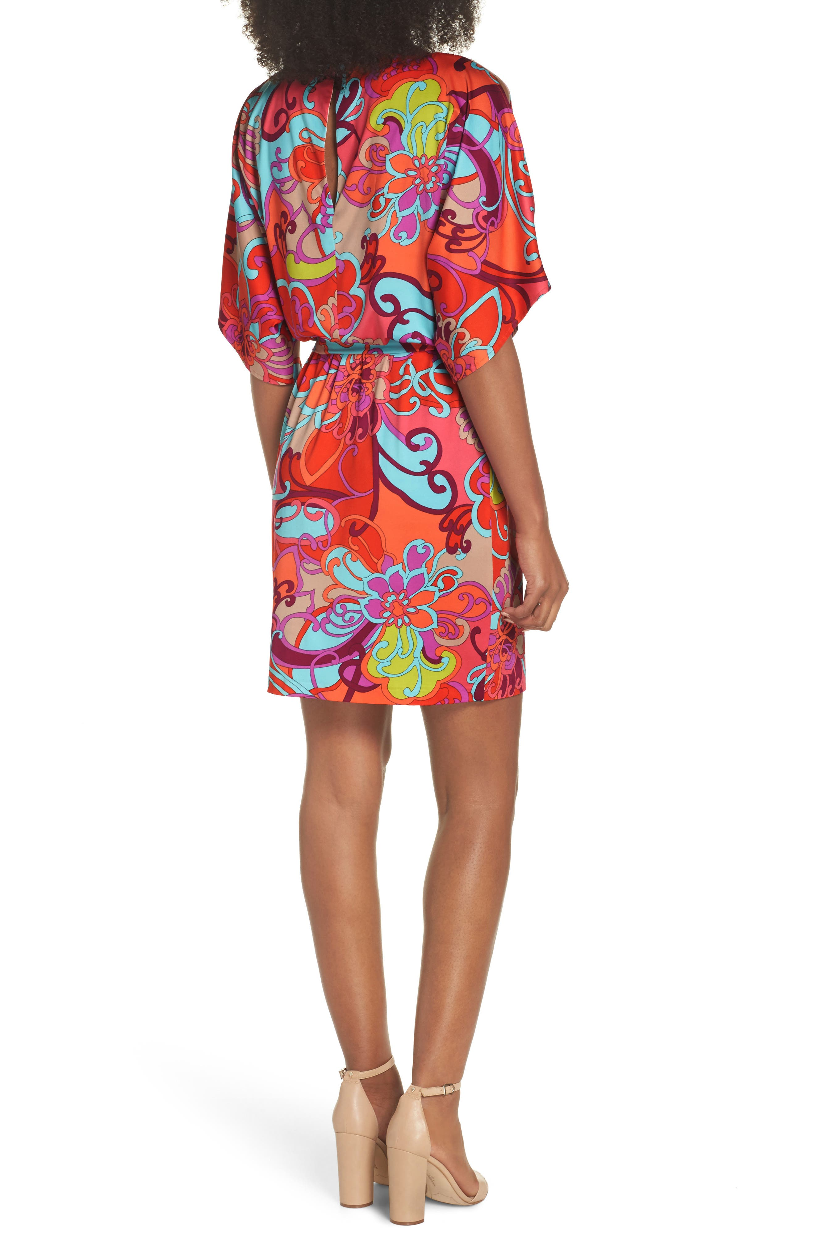 Bernice Print Dress,                             Alternate thumbnail 2, color,