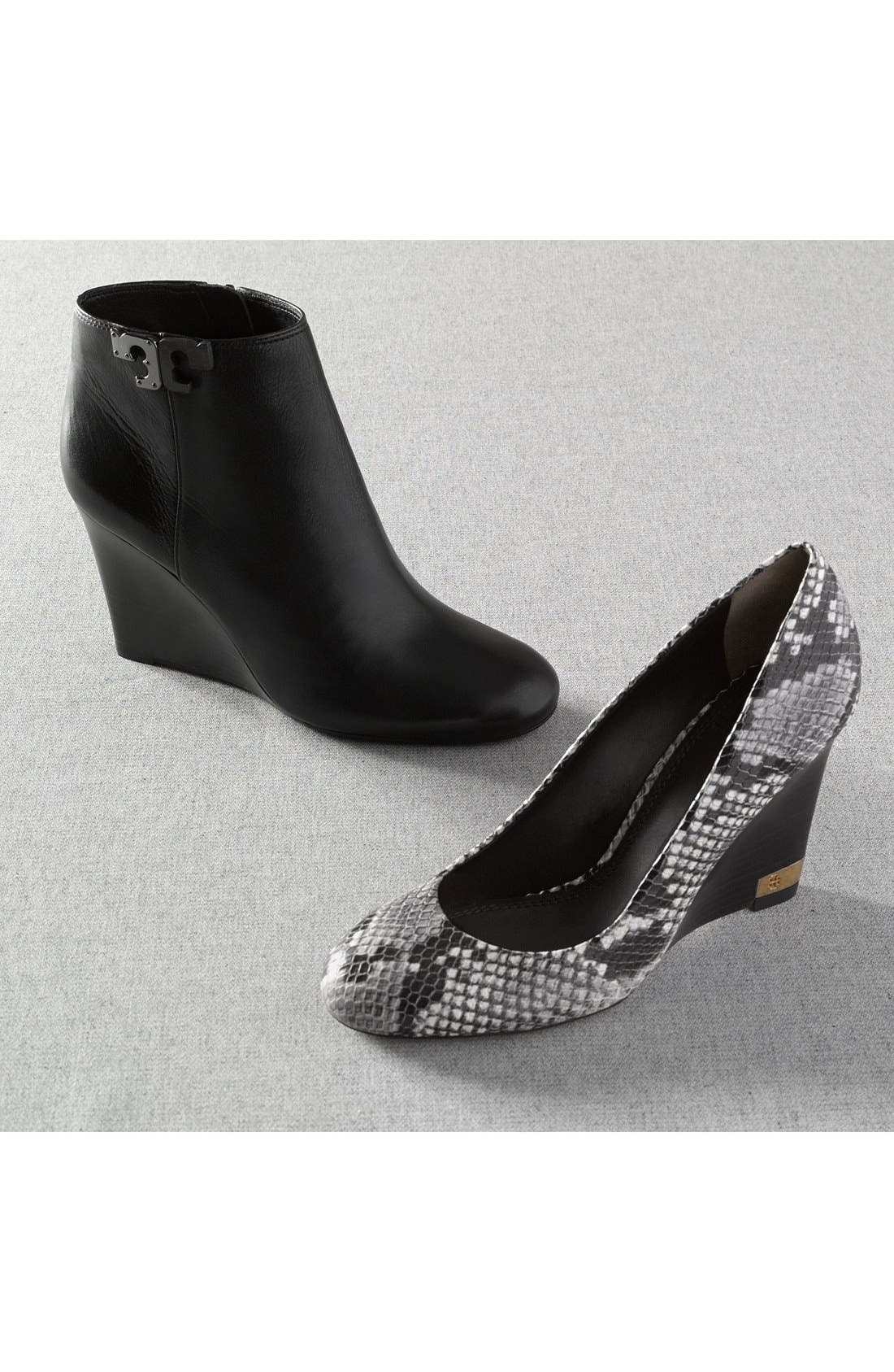 'Lowell' Wedge Bootie,                             Alternate thumbnail 5, color,                             001