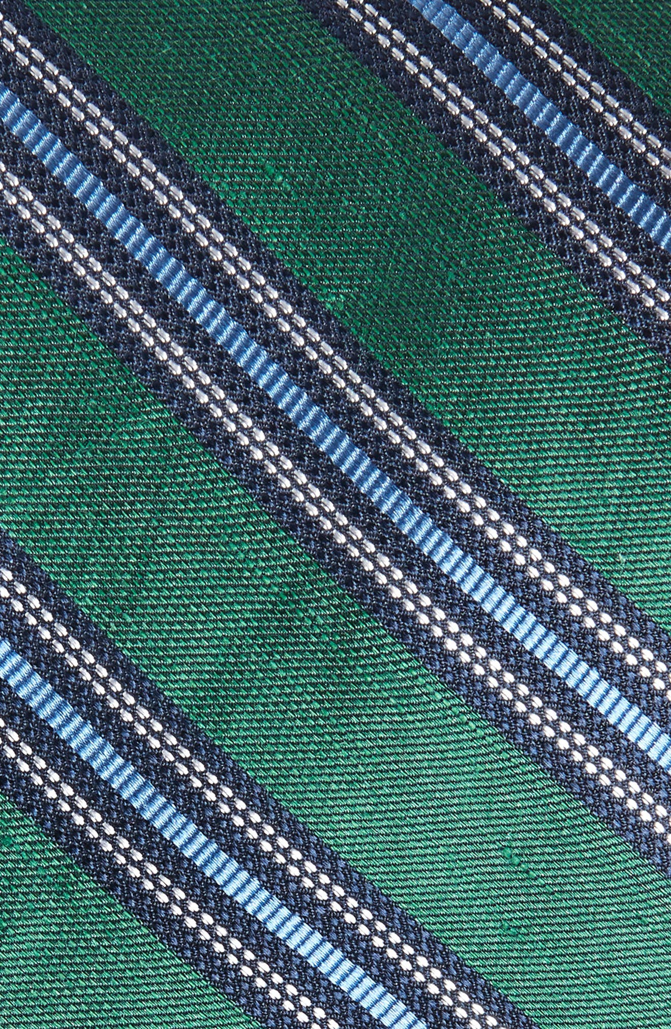 Rangel Stripe Silk & Linen Tie,                             Alternate thumbnail 2, color,                             HUNTER GREEN