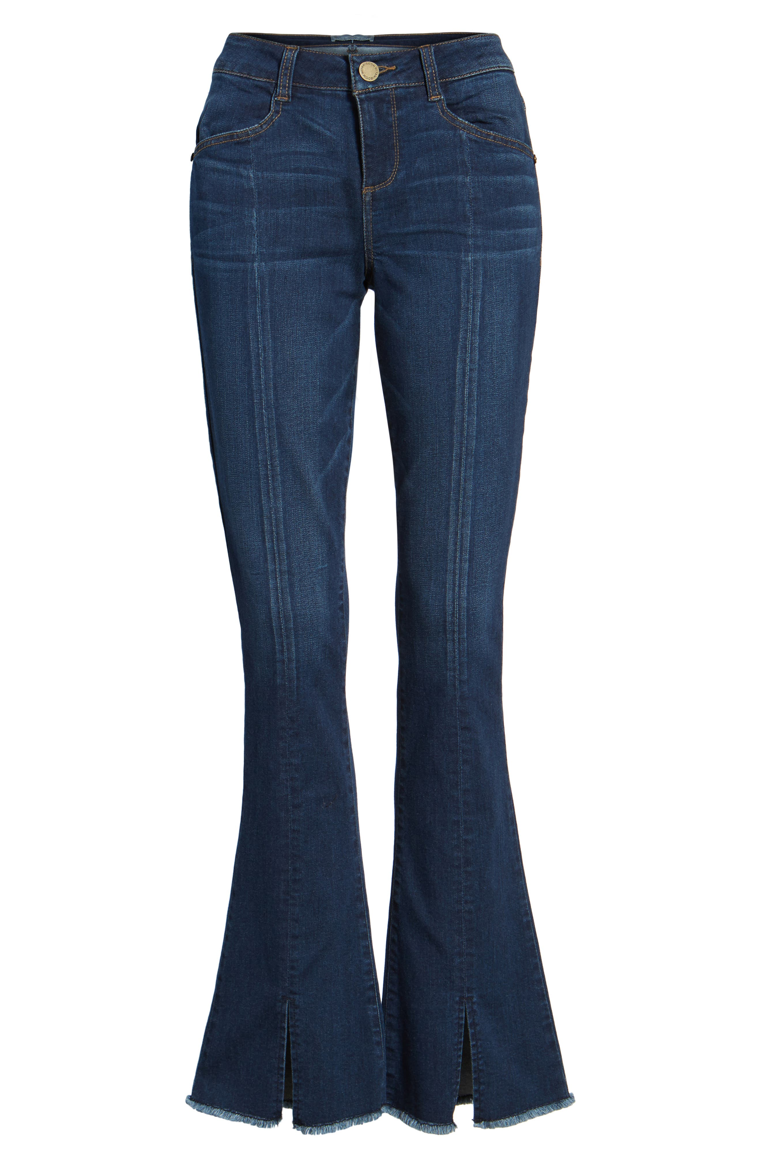 Itty Bitty Split Hem Bootcut Jeans,                             Alternate thumbnail 6, color,                             420