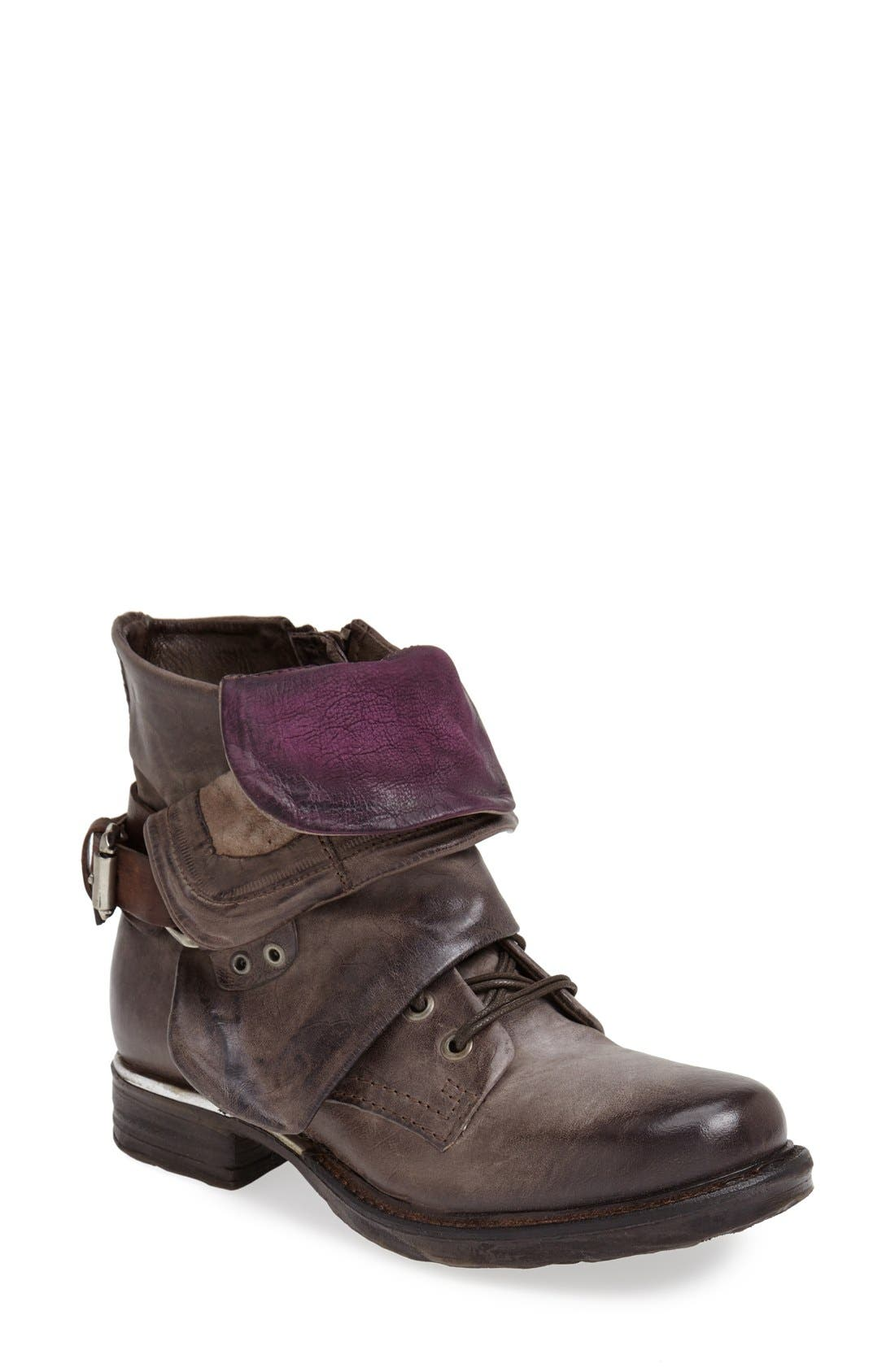 A.S. 98 'Simon' Front Cuff Leather Boot,                             Main thumbnail 1, color,                             060