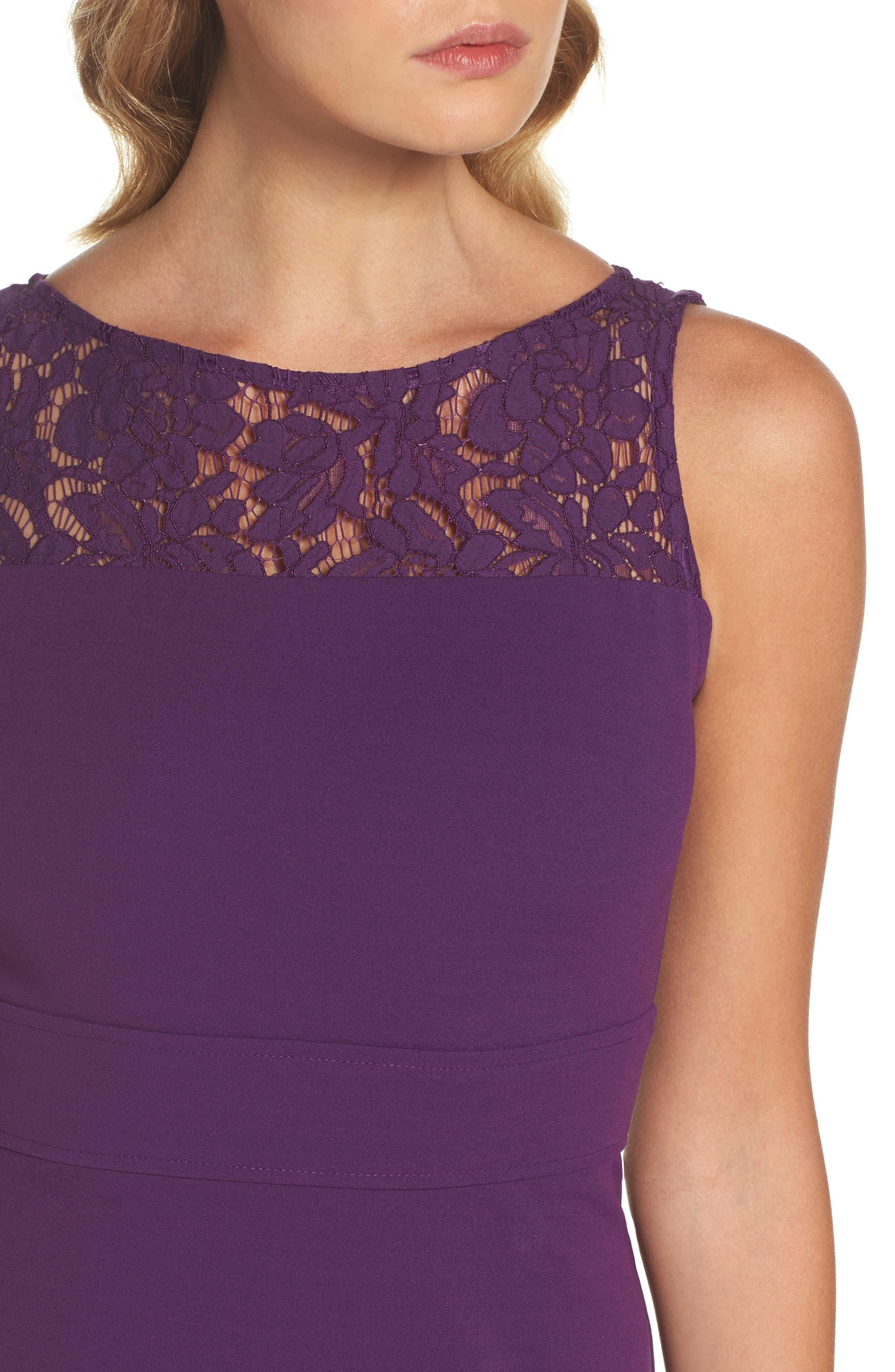 Lace Flounce Dress,                             Alternate thumbnail 8, color,