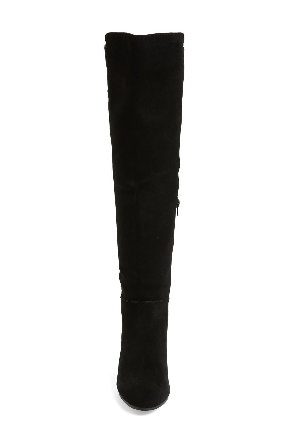 'Ginette' Over the Knee Boot,                             Alternate thumbnail 4, color,                             001