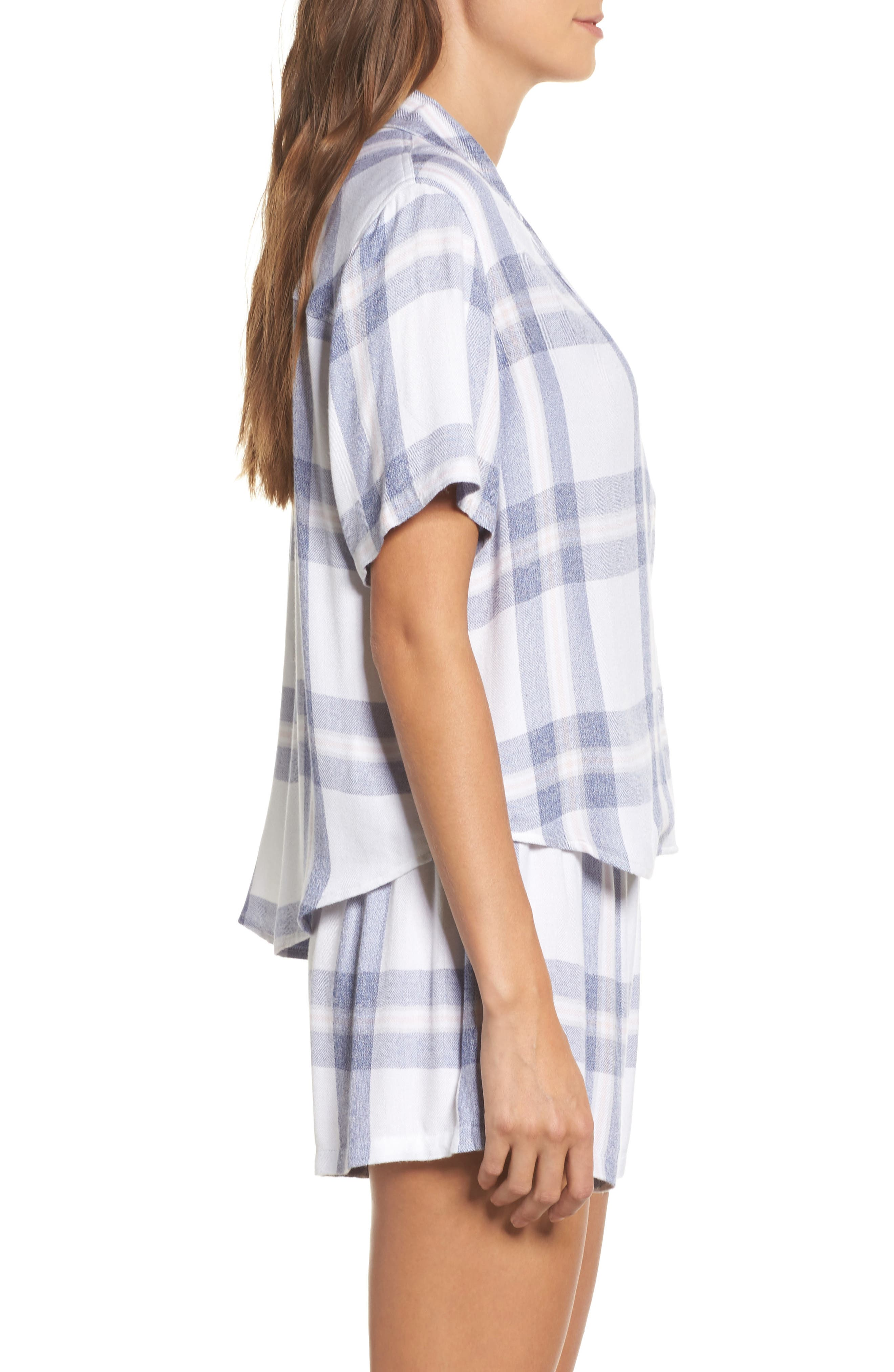 Plaid Short Pajamas,                             Alternate thumbnail 3, color,                             106