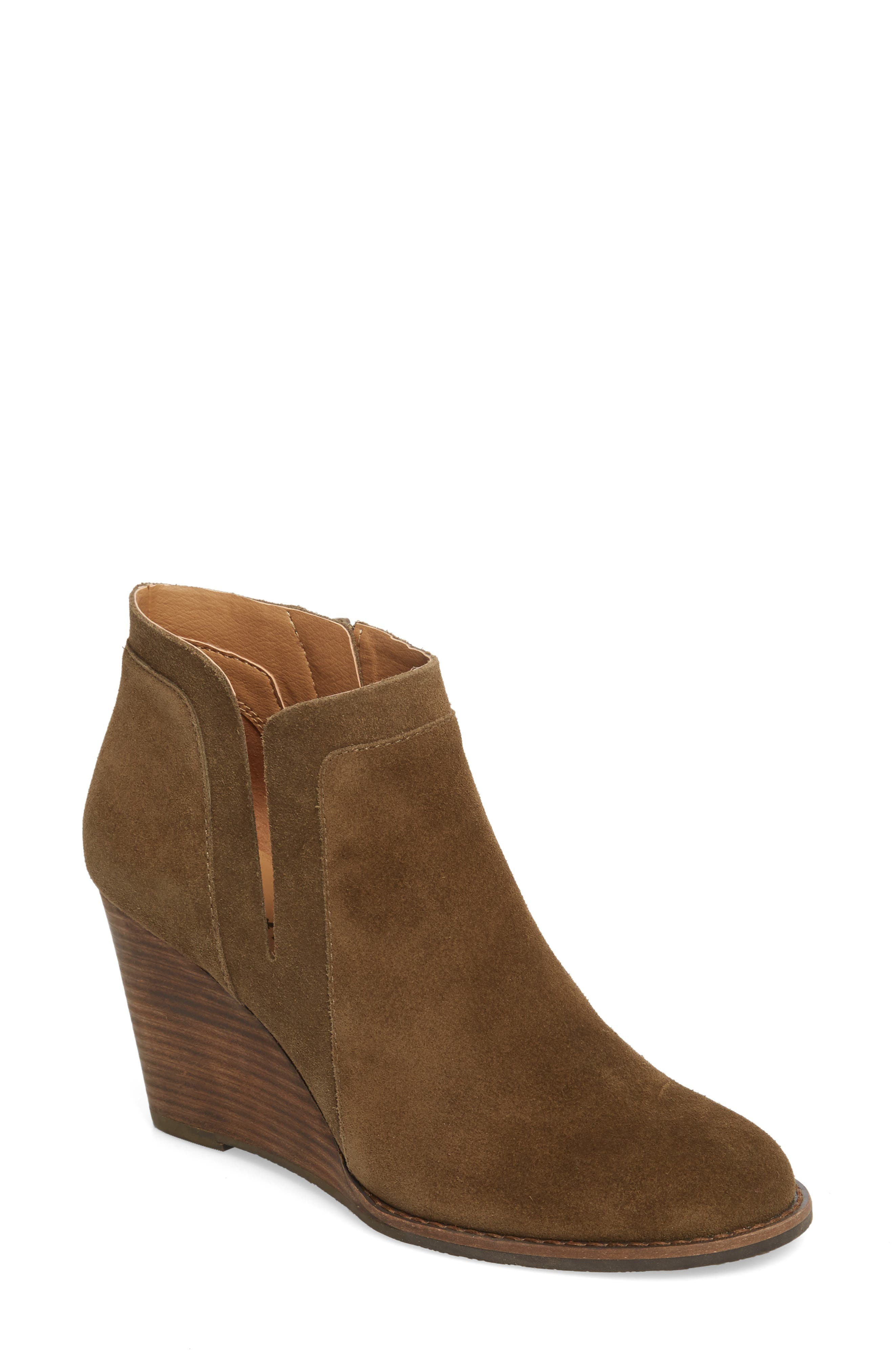 Lucky Brand Yabba Wedge Bootie- Green