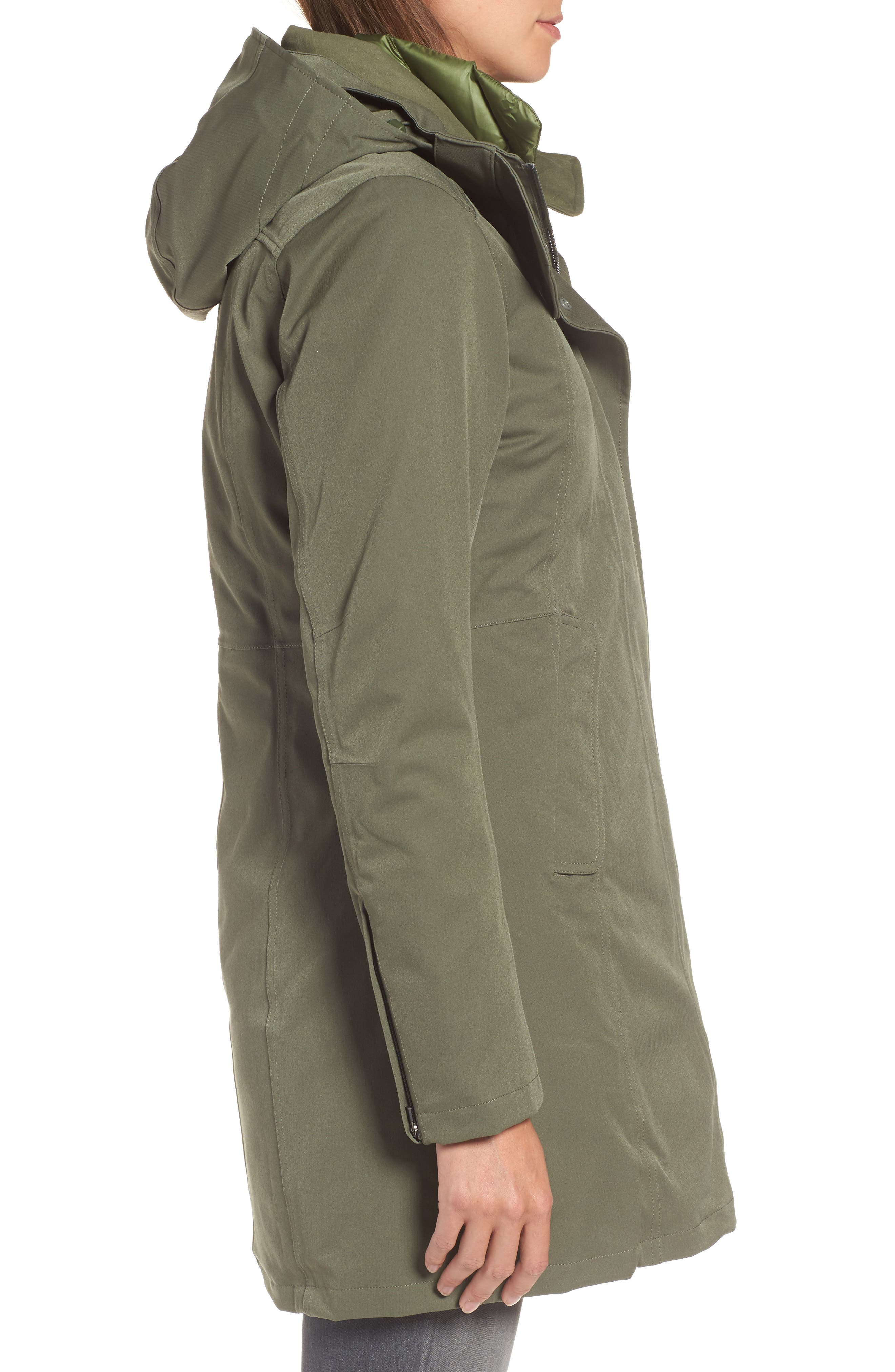Tres Waterproof 3-in-1 Parka,                             Alternate thumbnail 3, color,                             301