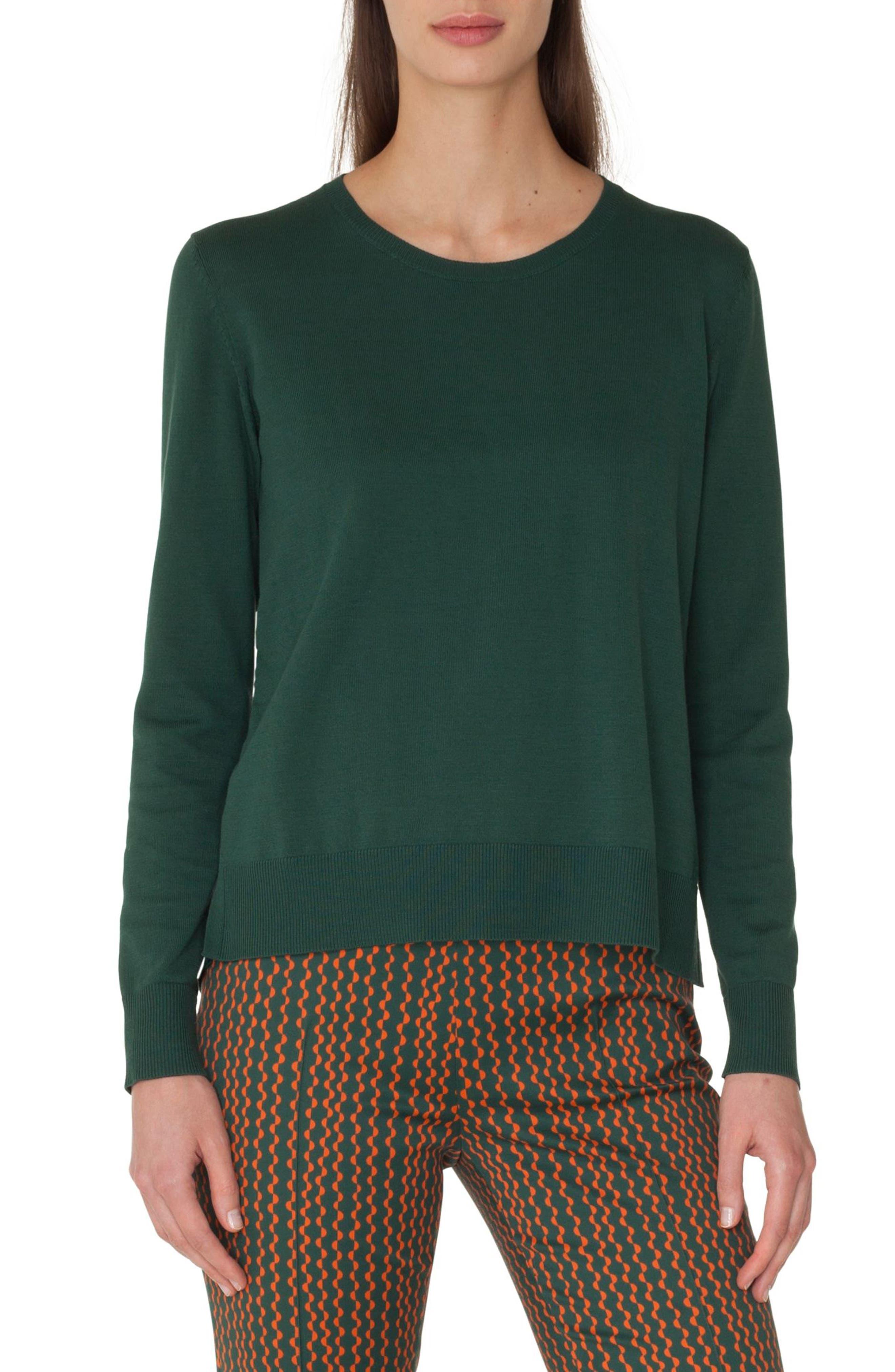 Poplin Back Cotton Sweater,                         Main,                         color, 358