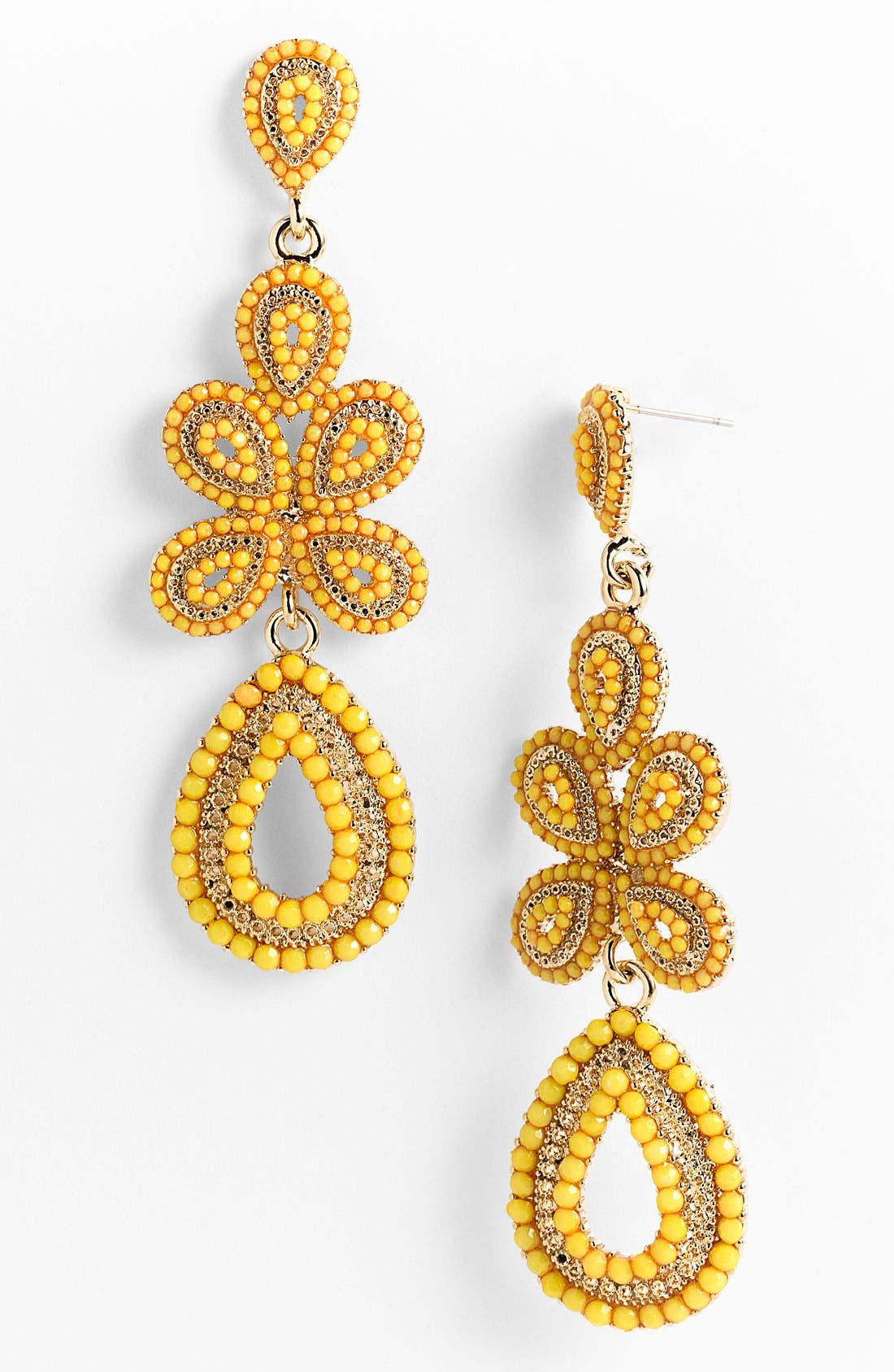 'Ornate' Linear Statement Earrings,                             Main thumbnail 15, color,