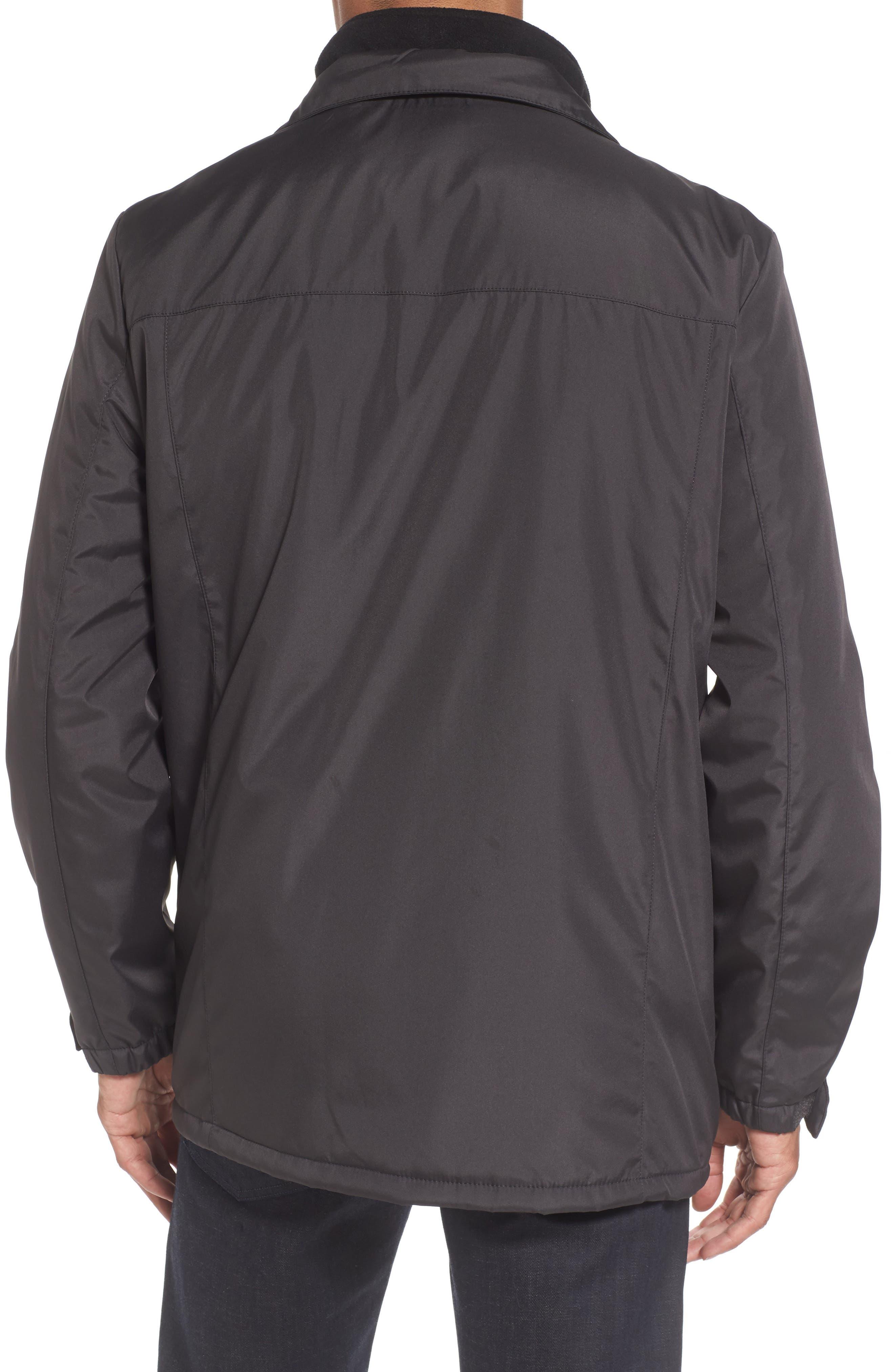 Hooded Jacket with Inset Fleece Bib,                             Alternate thumbnail 14, color,