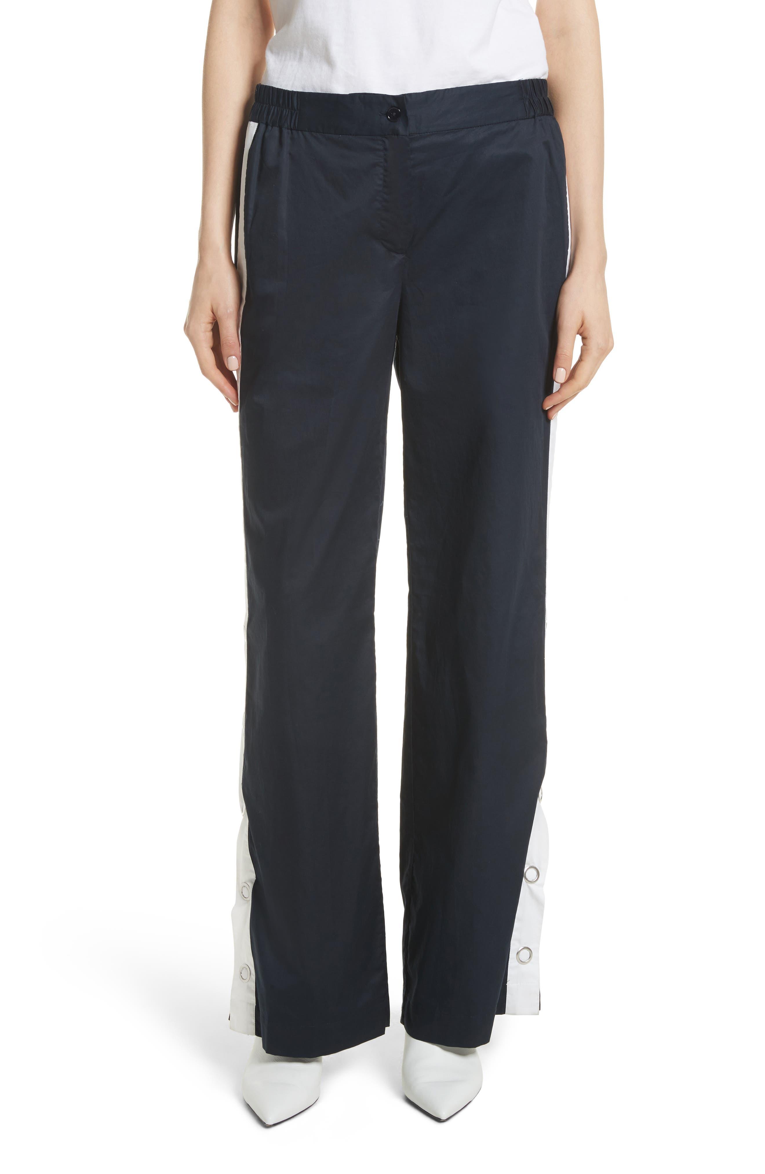 Arwen Wide Leg Cotton Pants,                         Main,                         color, 005