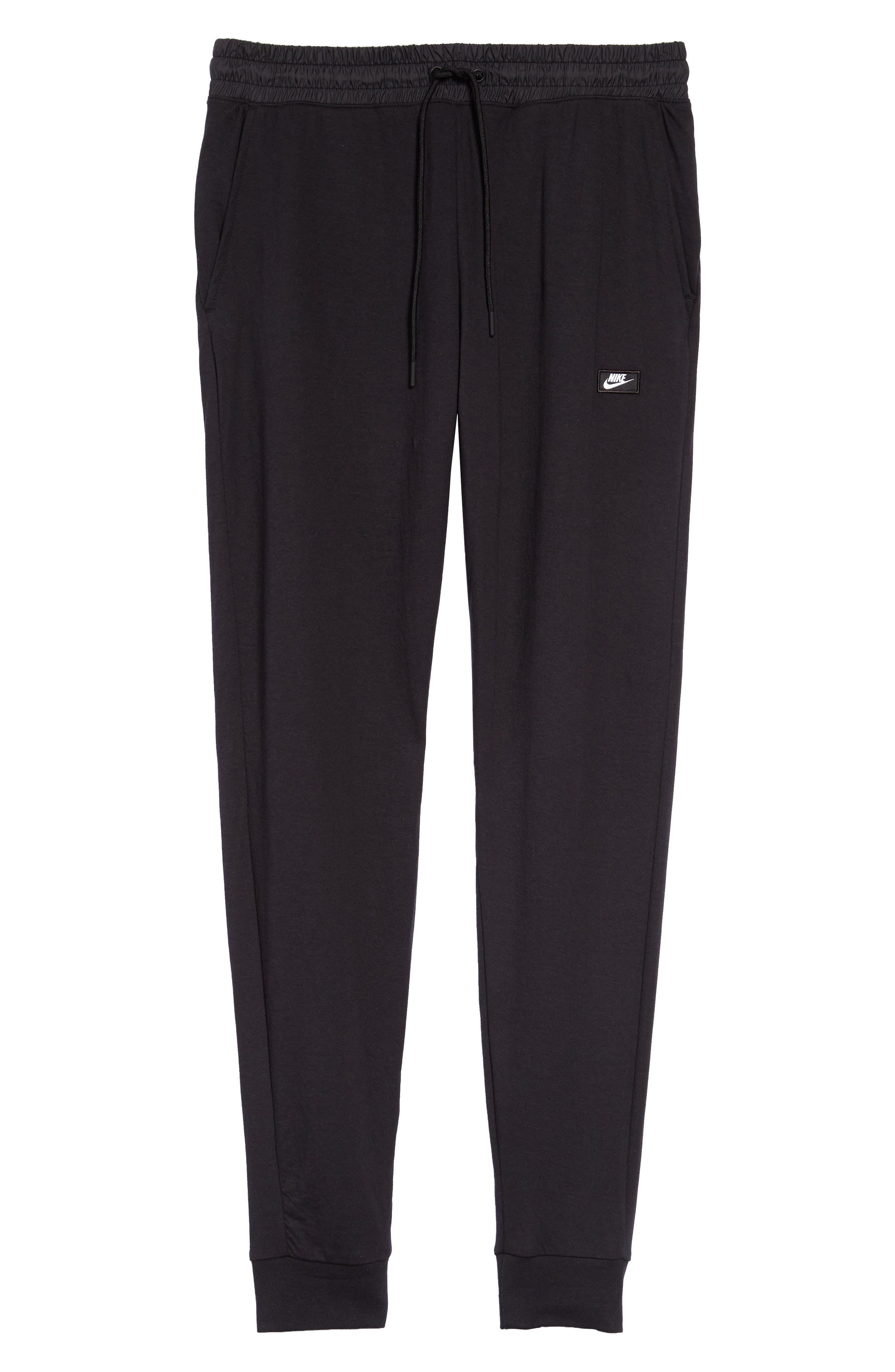Modern Jogger Pants,                             Alternate thumbnail 6, color,                             BLACK/ BLACK